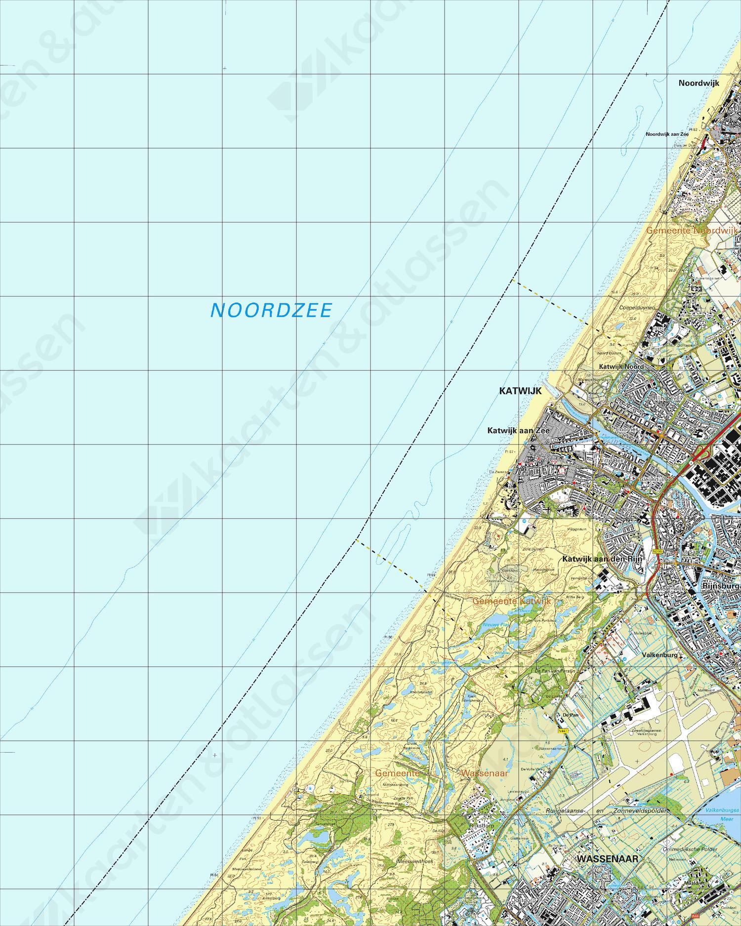 Topografische Kaart 30E Katwijk aan Zee