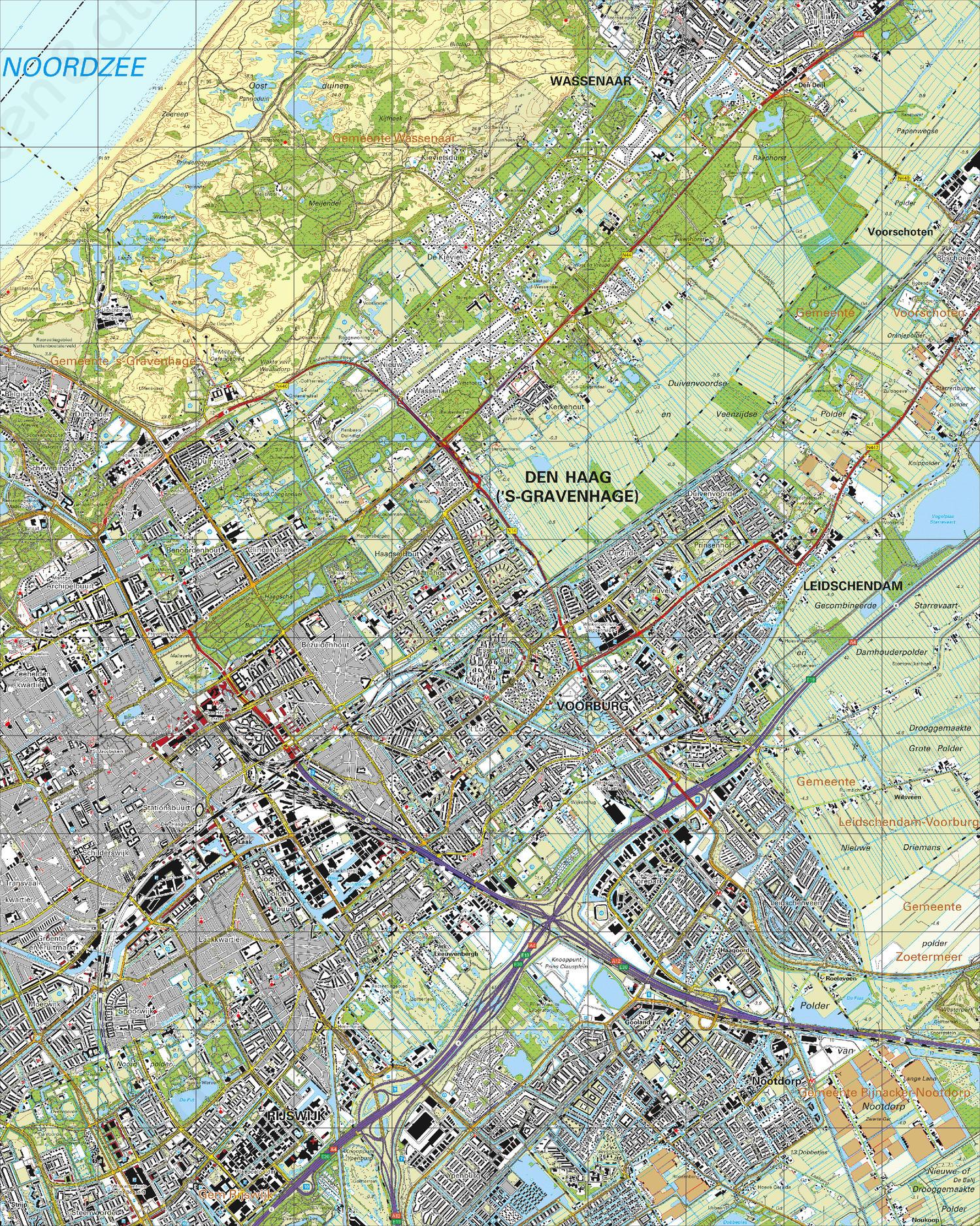 Topografische Kaart 30G 's-Gravenhage