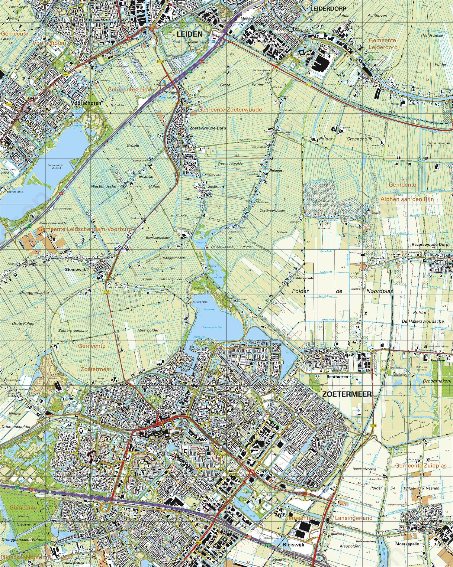 zoetermeer kaart Digitale Topografische Kaart 30H Zoetermeer | Kaarten en Atlassen.nl