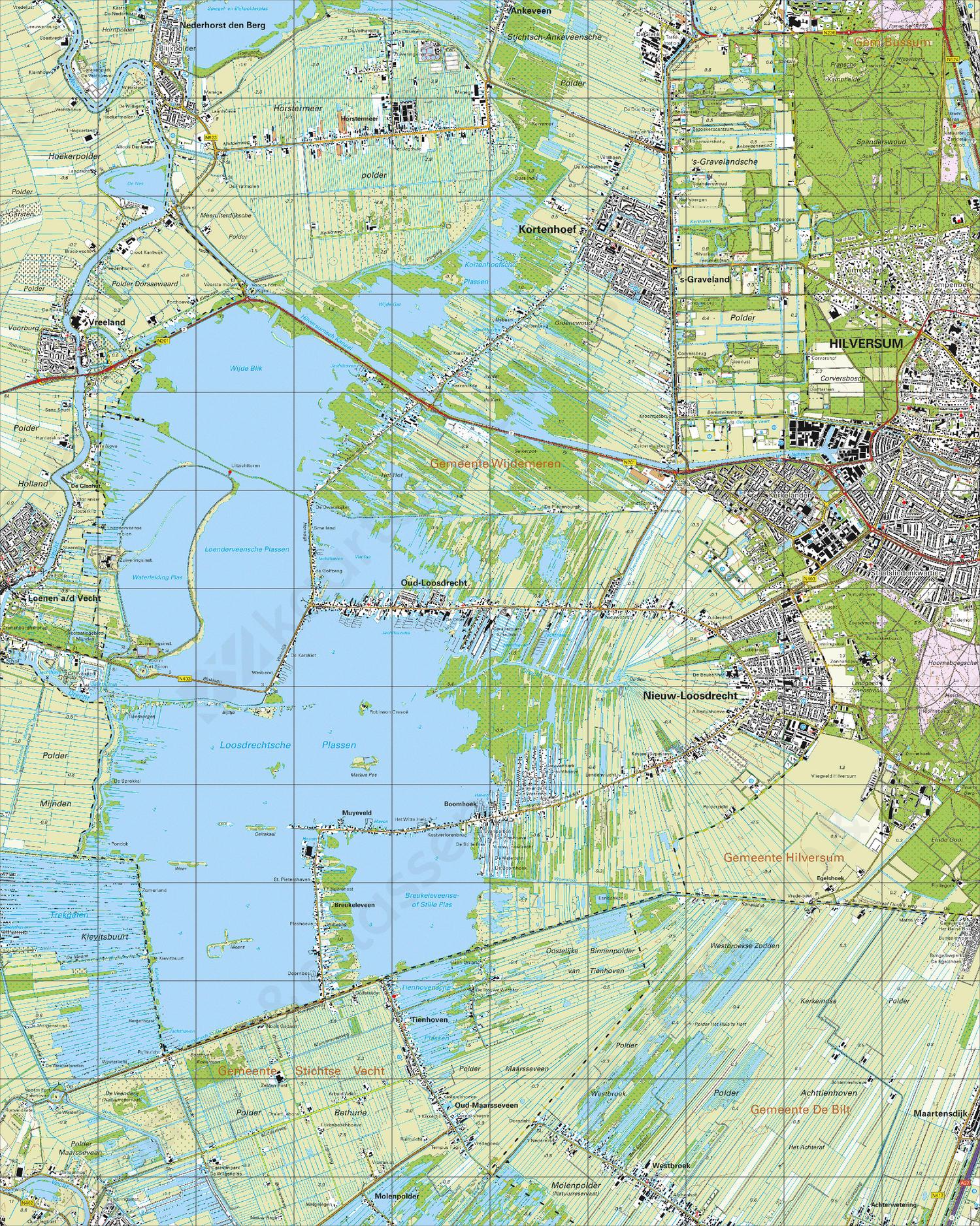 Topografische Kaart 31F Oud-Loosdrecht