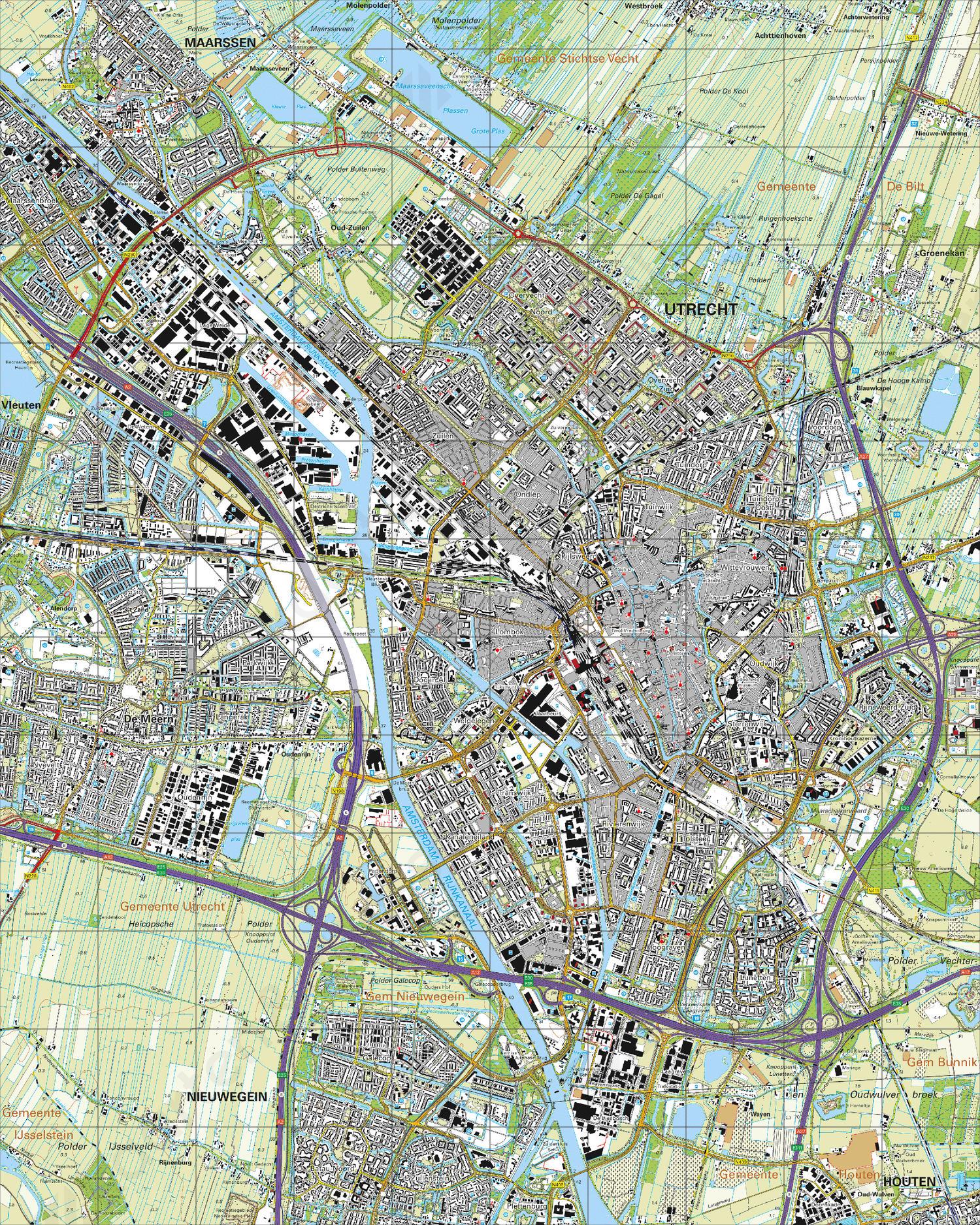 Topografische Kaart 31H Utrecht