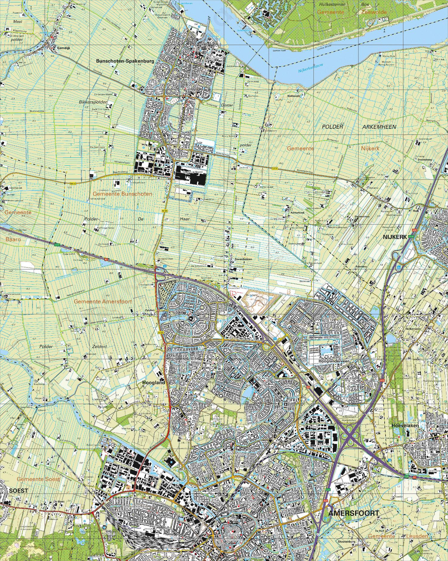 Topografische Kaart 32B Amersfoort