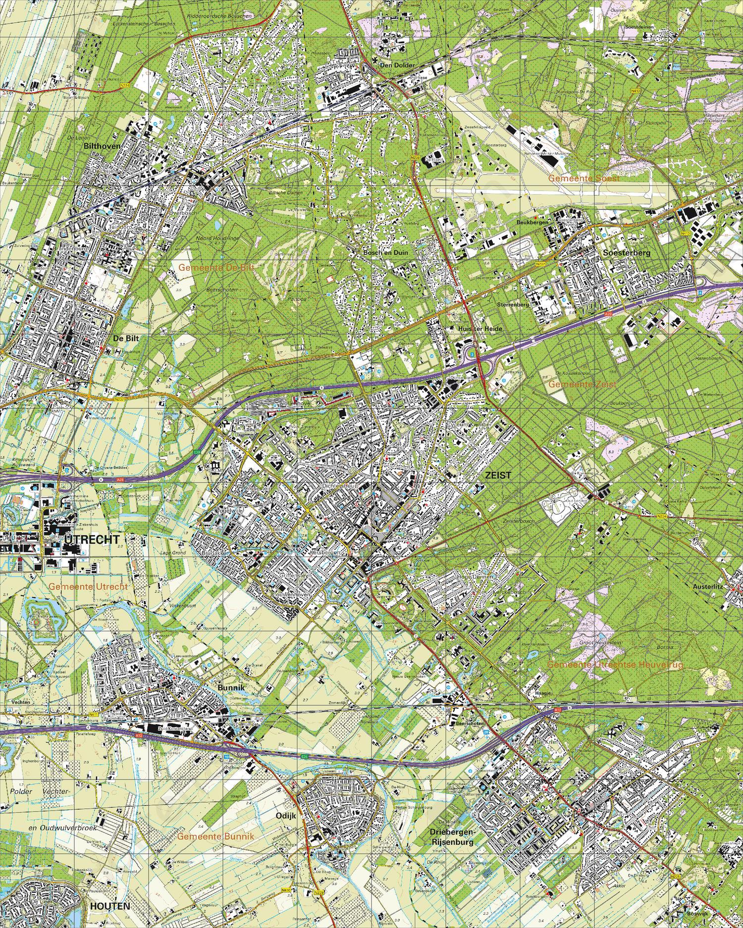 Topografische Kaart 32C Zeist