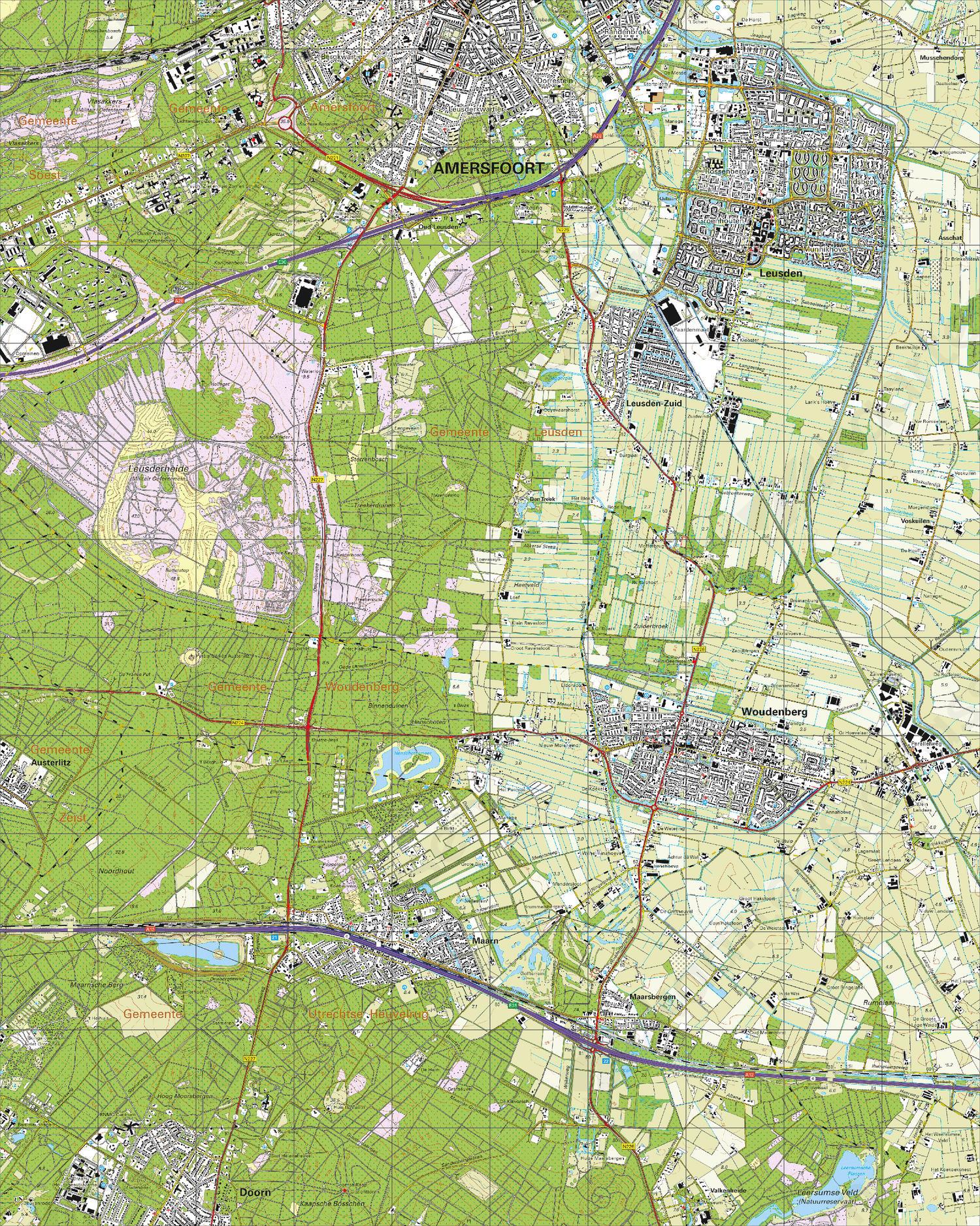 Topografische Kaart 32D Woudenberg