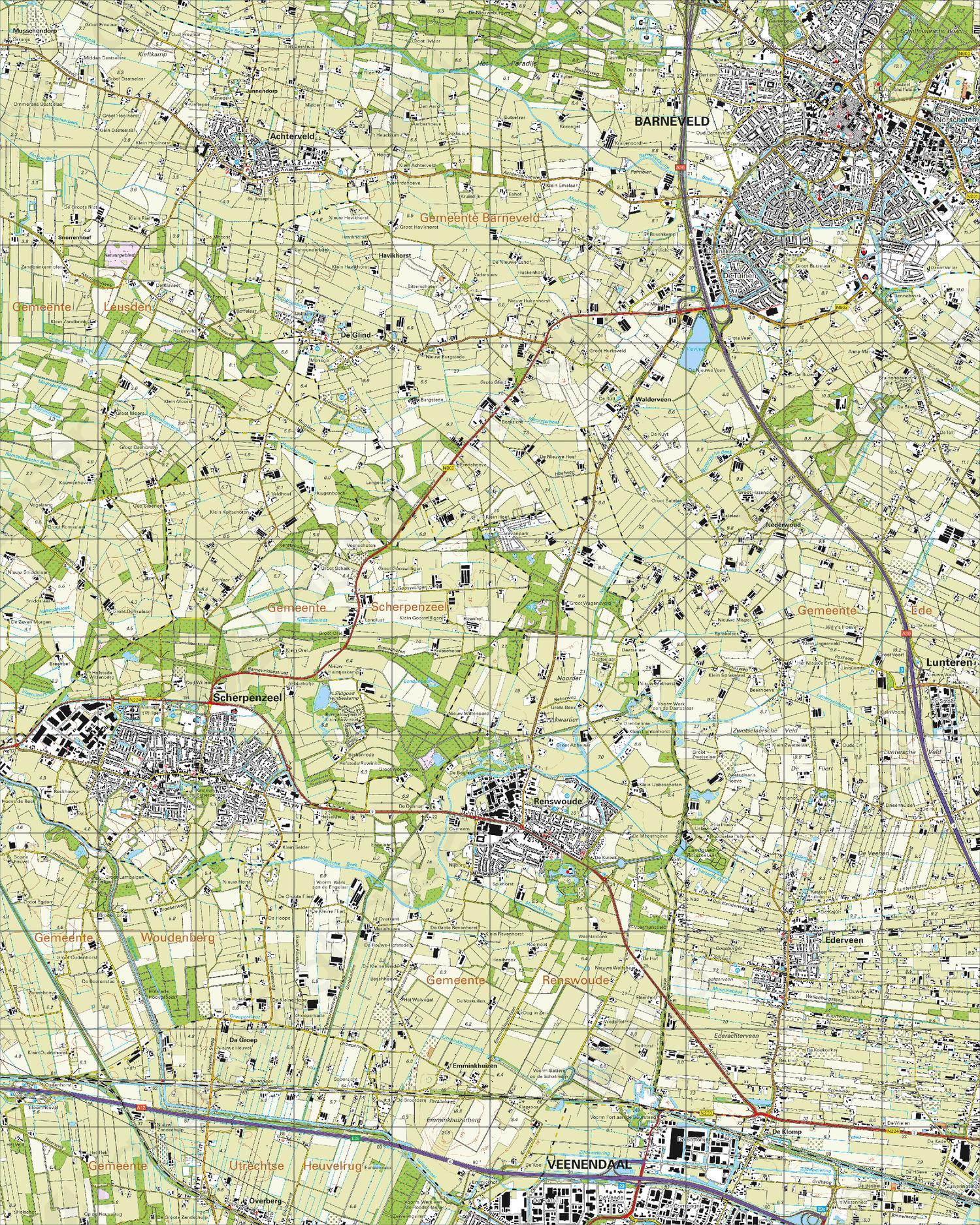 Topografische Kaart 32G Barneveld