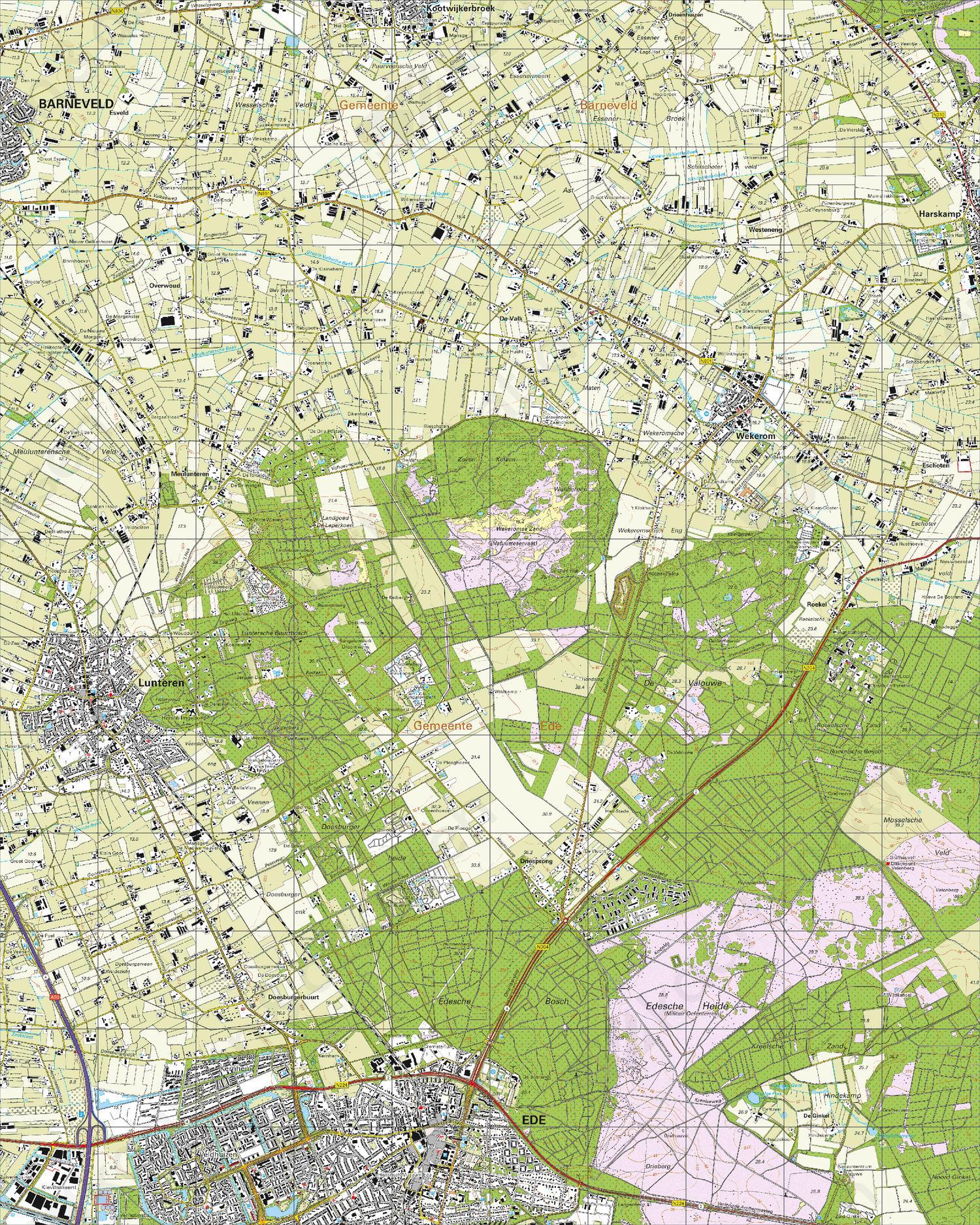 Topografische Kaart 32H Ede