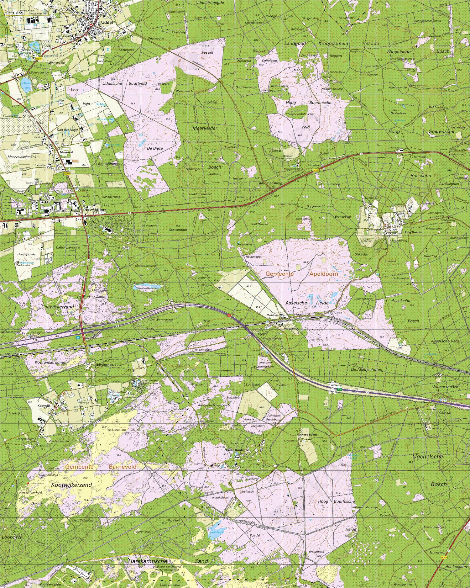 Topografische Kaart 33A Hoog Soeren