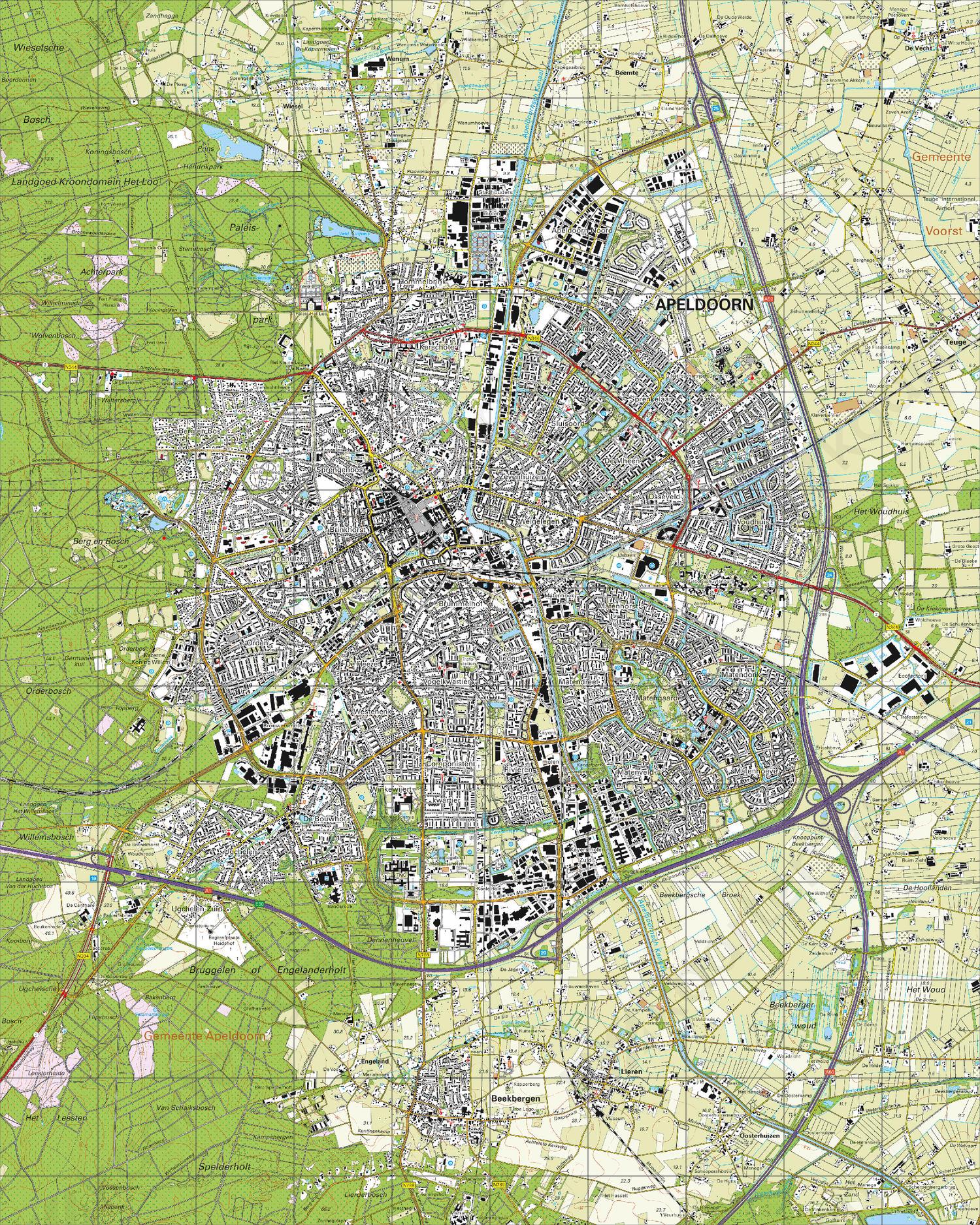 Topografische Kaart 33B Apeldoorn