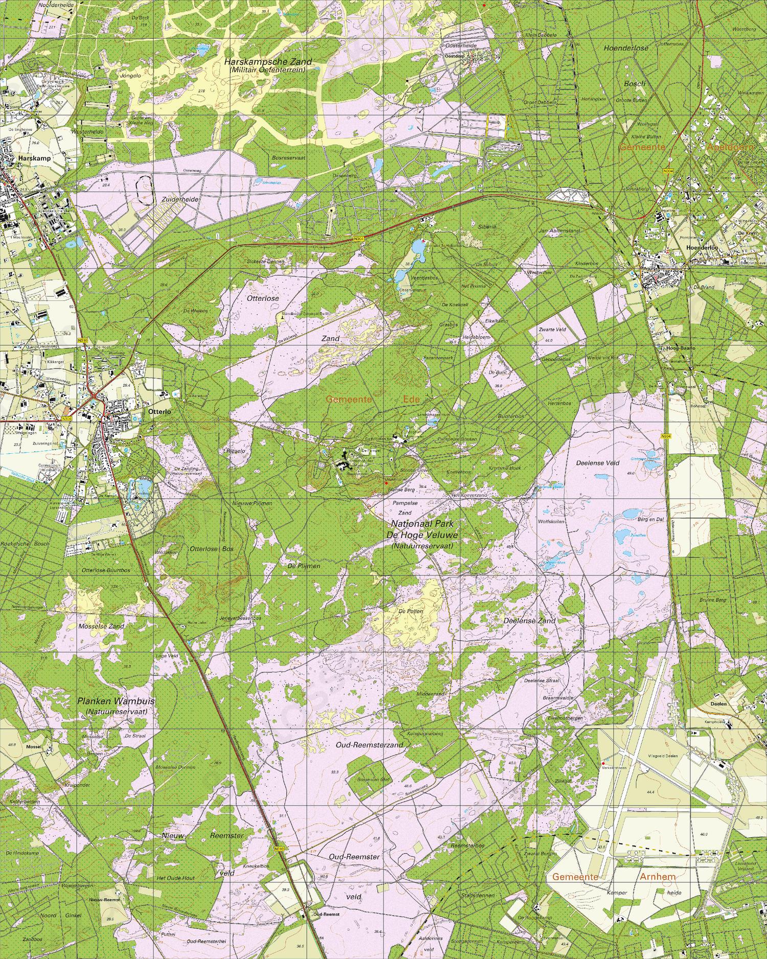 Topografische Kaart 33C Hoenderloo