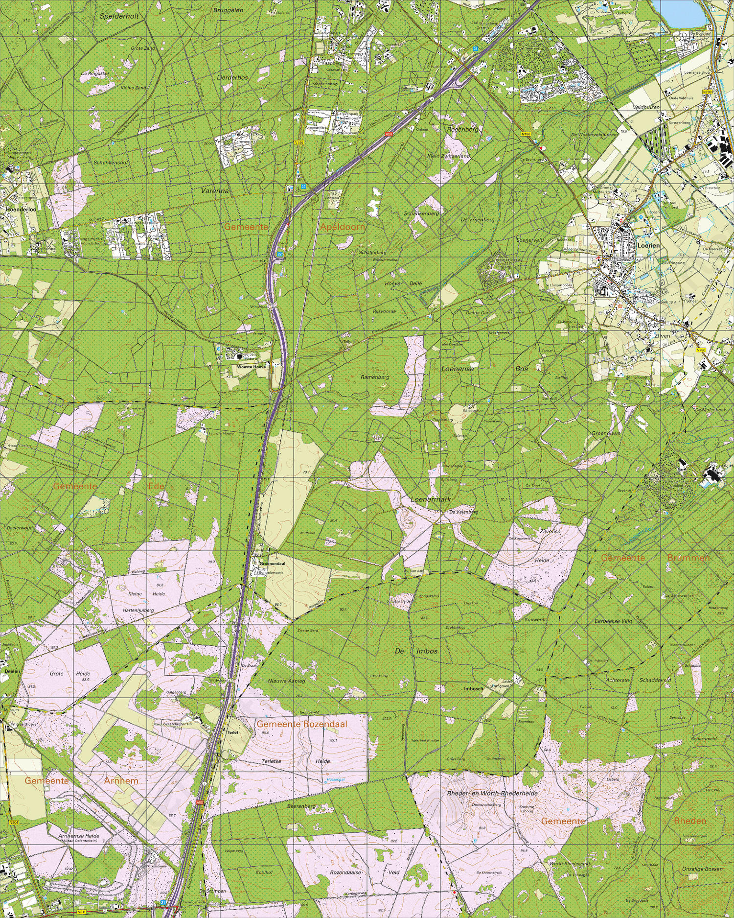 Digitale Topografische Kaart 33D Loenen