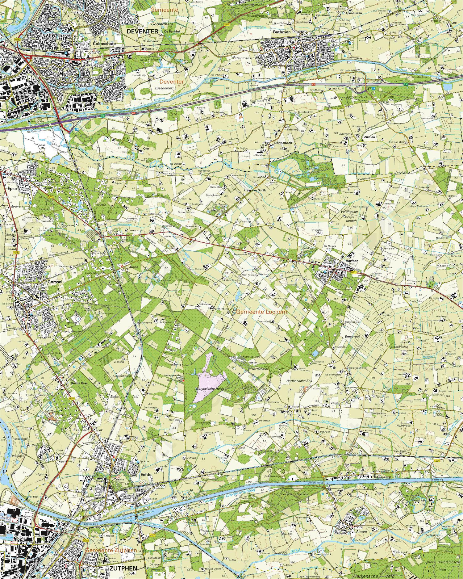 Topografische Kaart 33F Gorssel