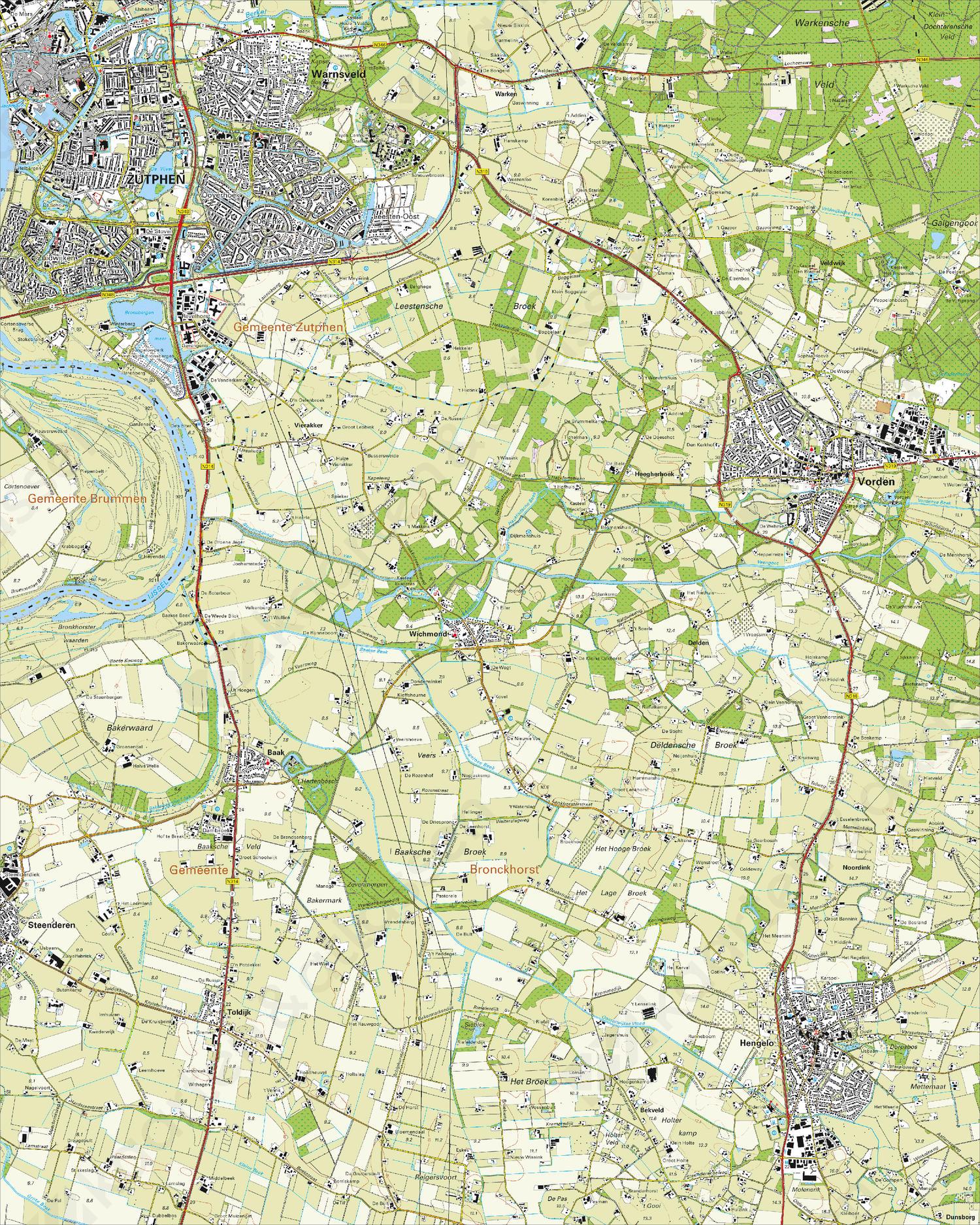 Topografische Kaart 33H Zutphen