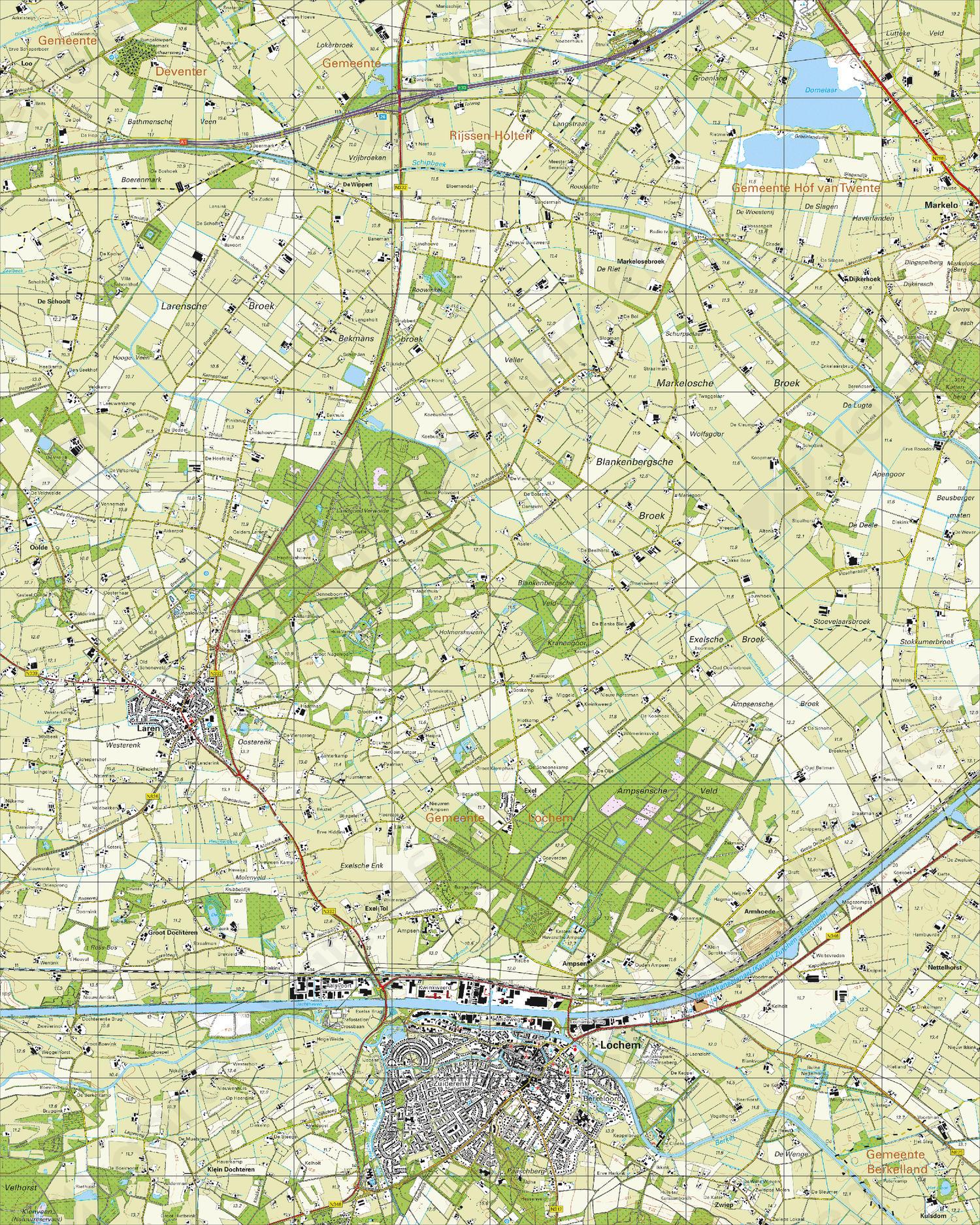 Topografische Kaart 34A Lochem
