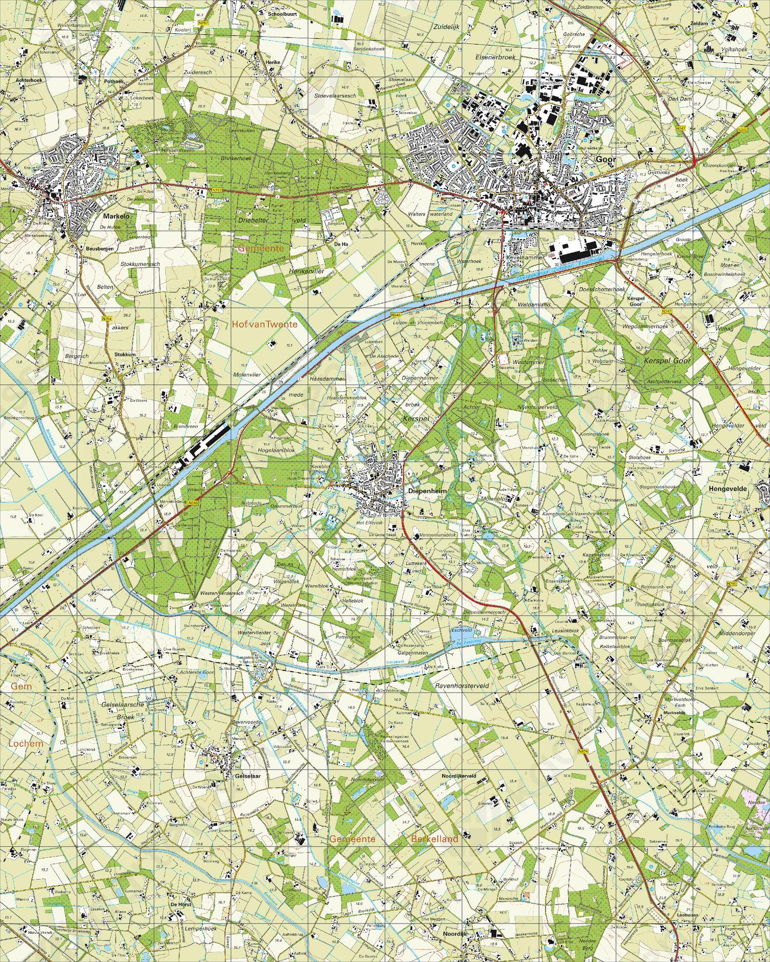 Topografische Kaart 34B Goor