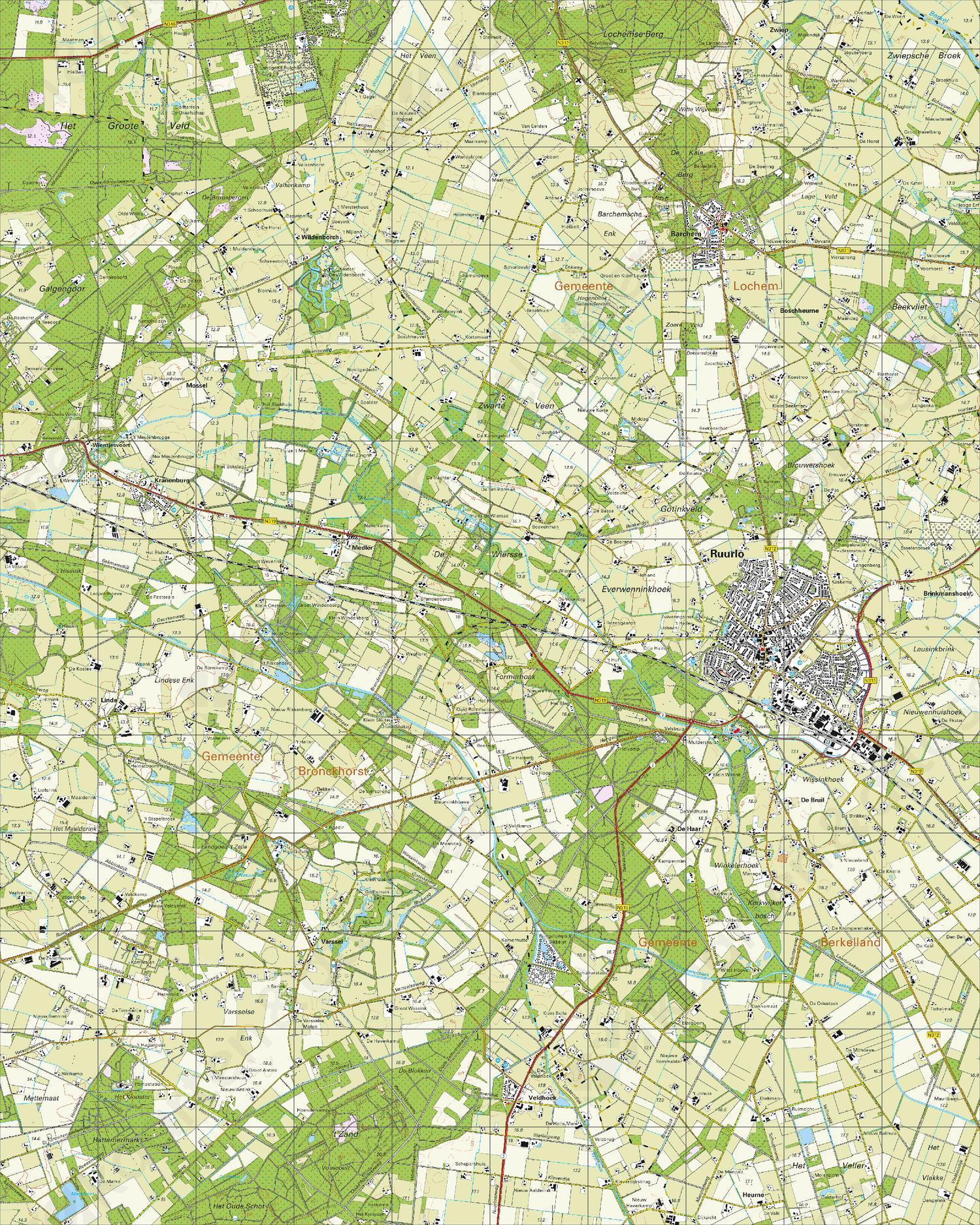 Digitale Topografische Kaart 34C Ruurlo