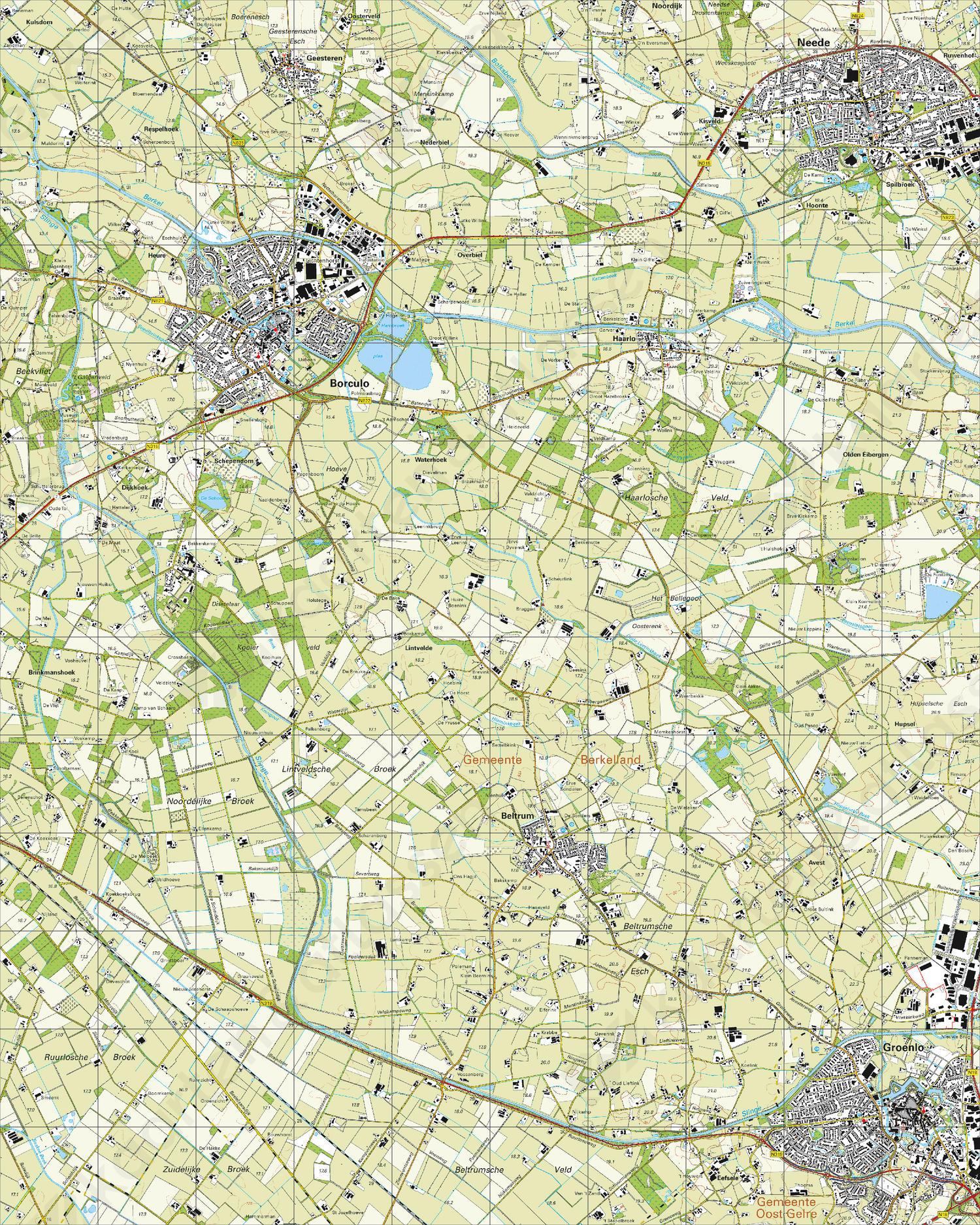 Topografische Kaart 34D Borculo