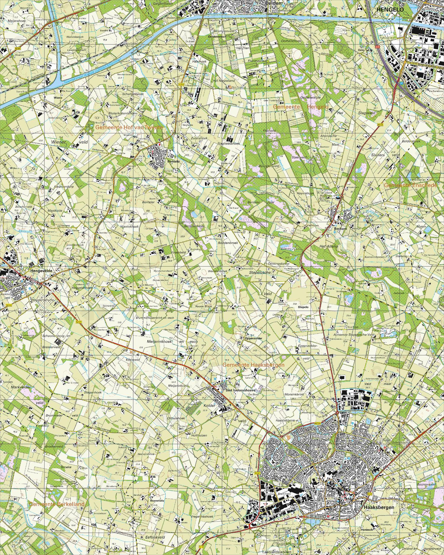 Topografische Kaart 34E Haaksbergen