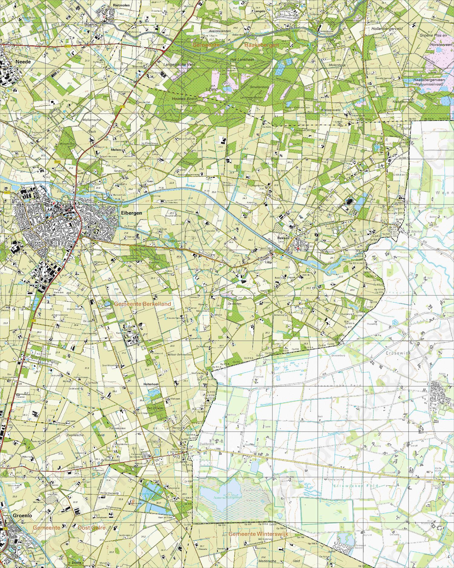 Topografische Kaart 34G Eibergen