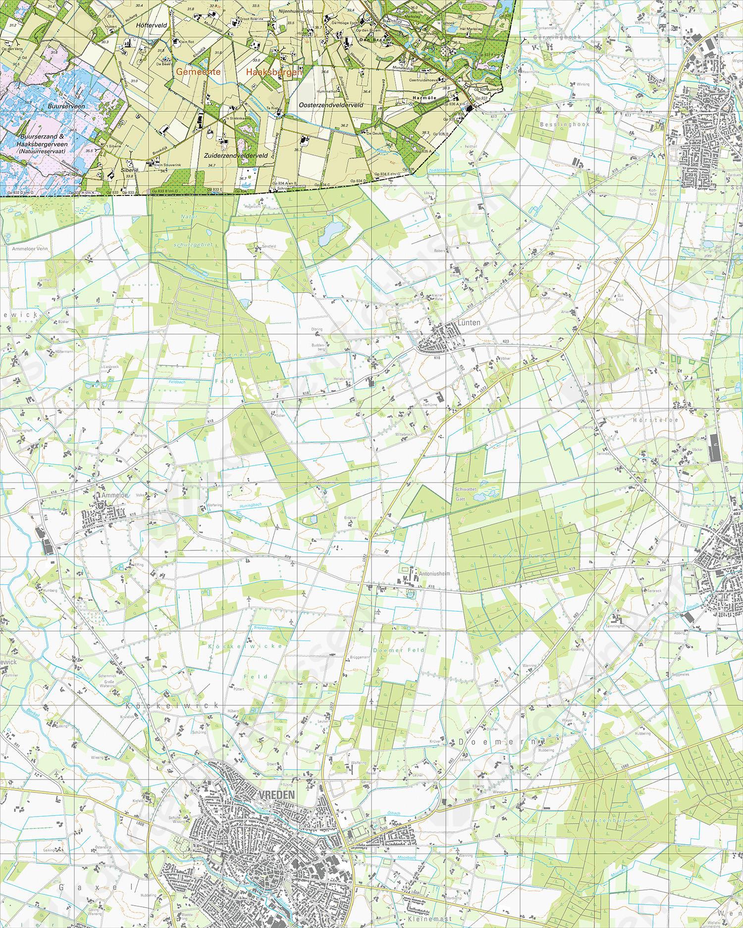 Topografische Kaart 34H Den Braam