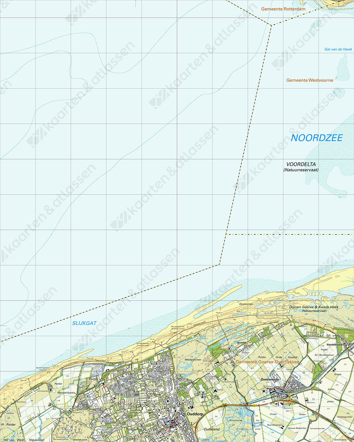Topografische Kaart 36H Ouddorp