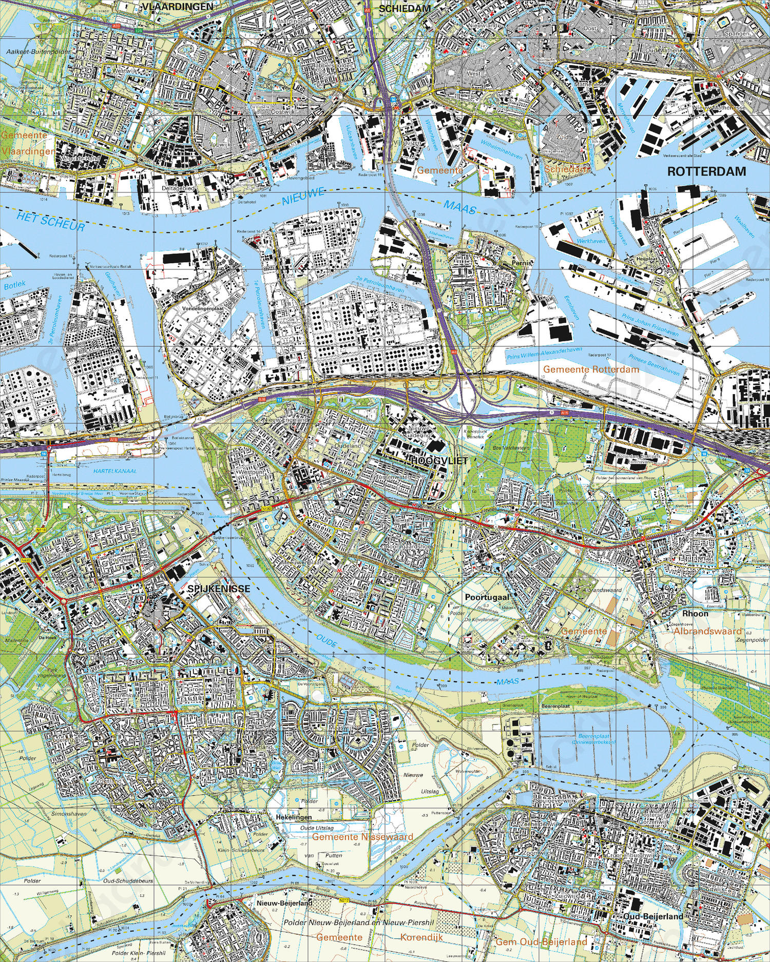 Topografische Kaart 37G Hoogvliet