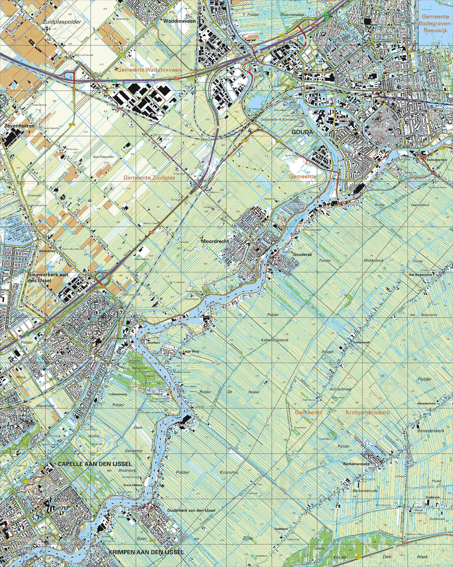 kaart gouda Digitale Topografische Kaart 38A Gouda | Kaarten en Atlassen.nl