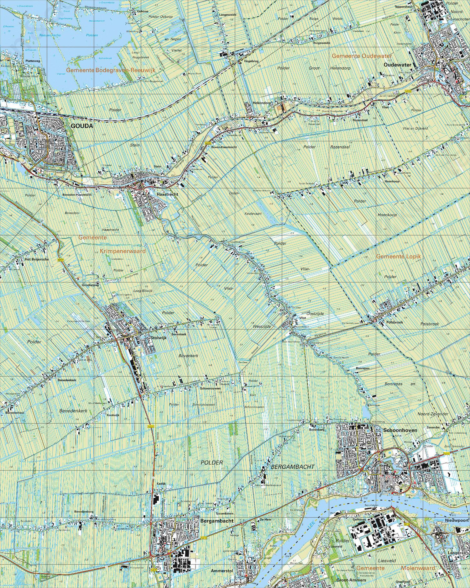 Topografische Kaart 38B Schoonhoven