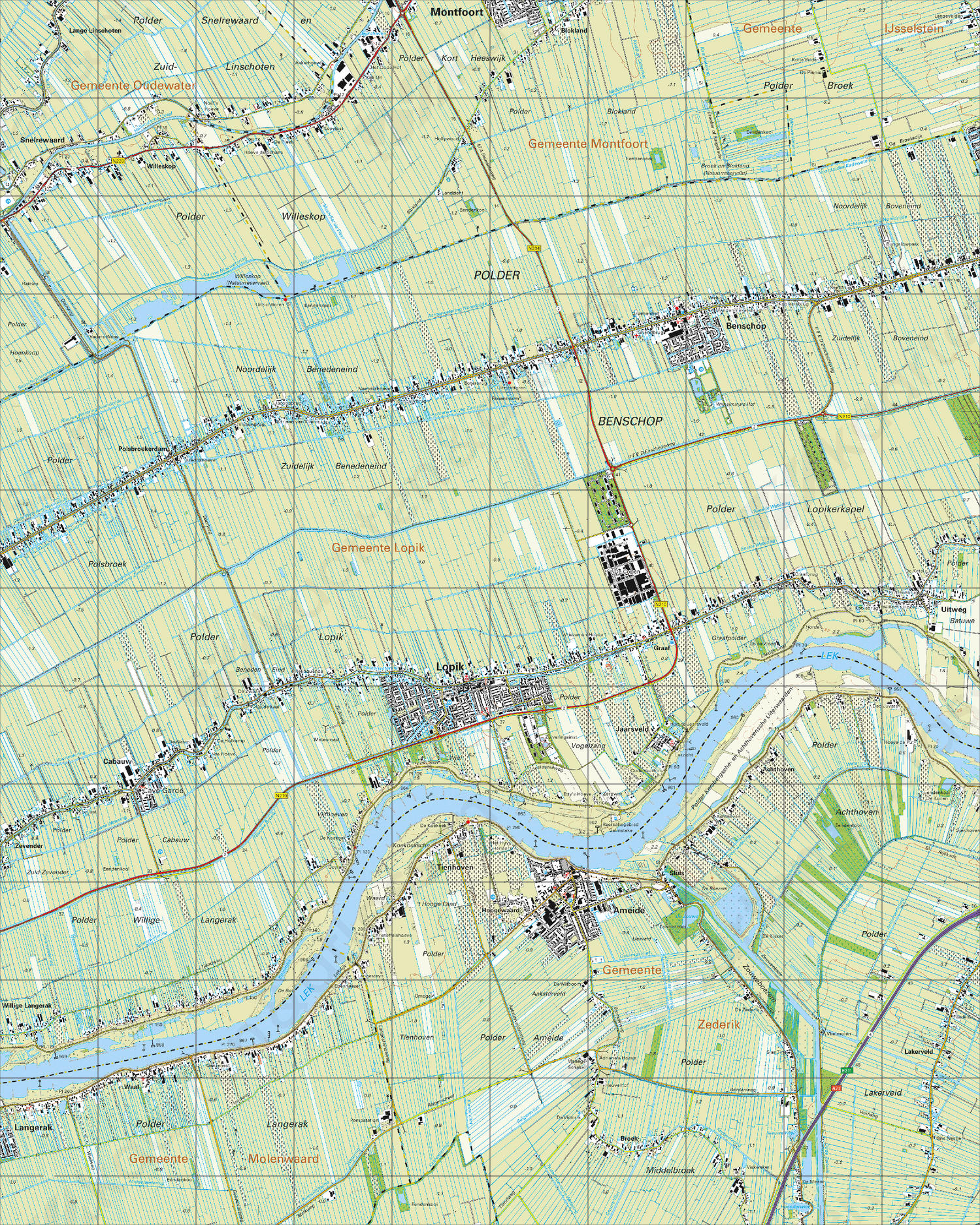 Topografische Kaart 38E Ameide