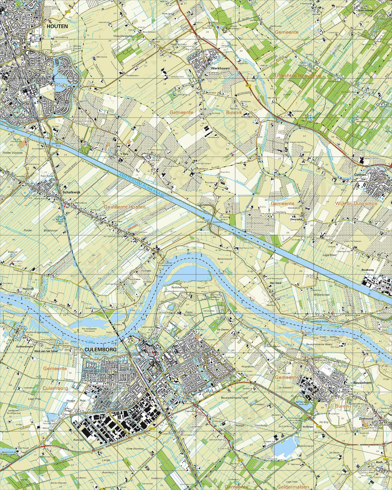 Topografische Kaart 39A Culemborg