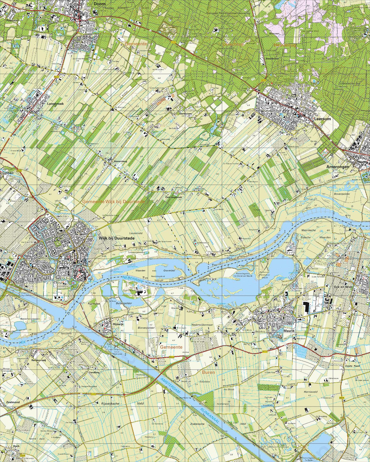Topografische Kaart 39B Wijk bij Duurstede