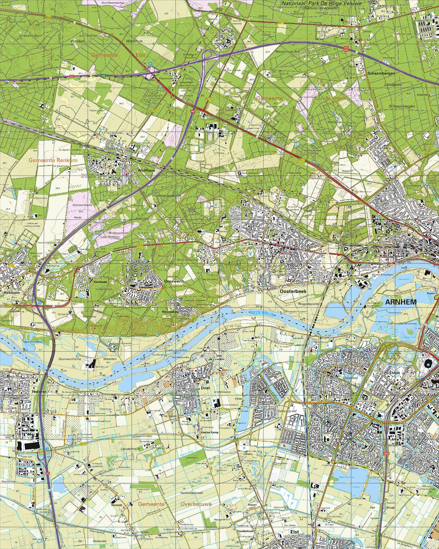 Topografische Kaart 40A Oosterbeek