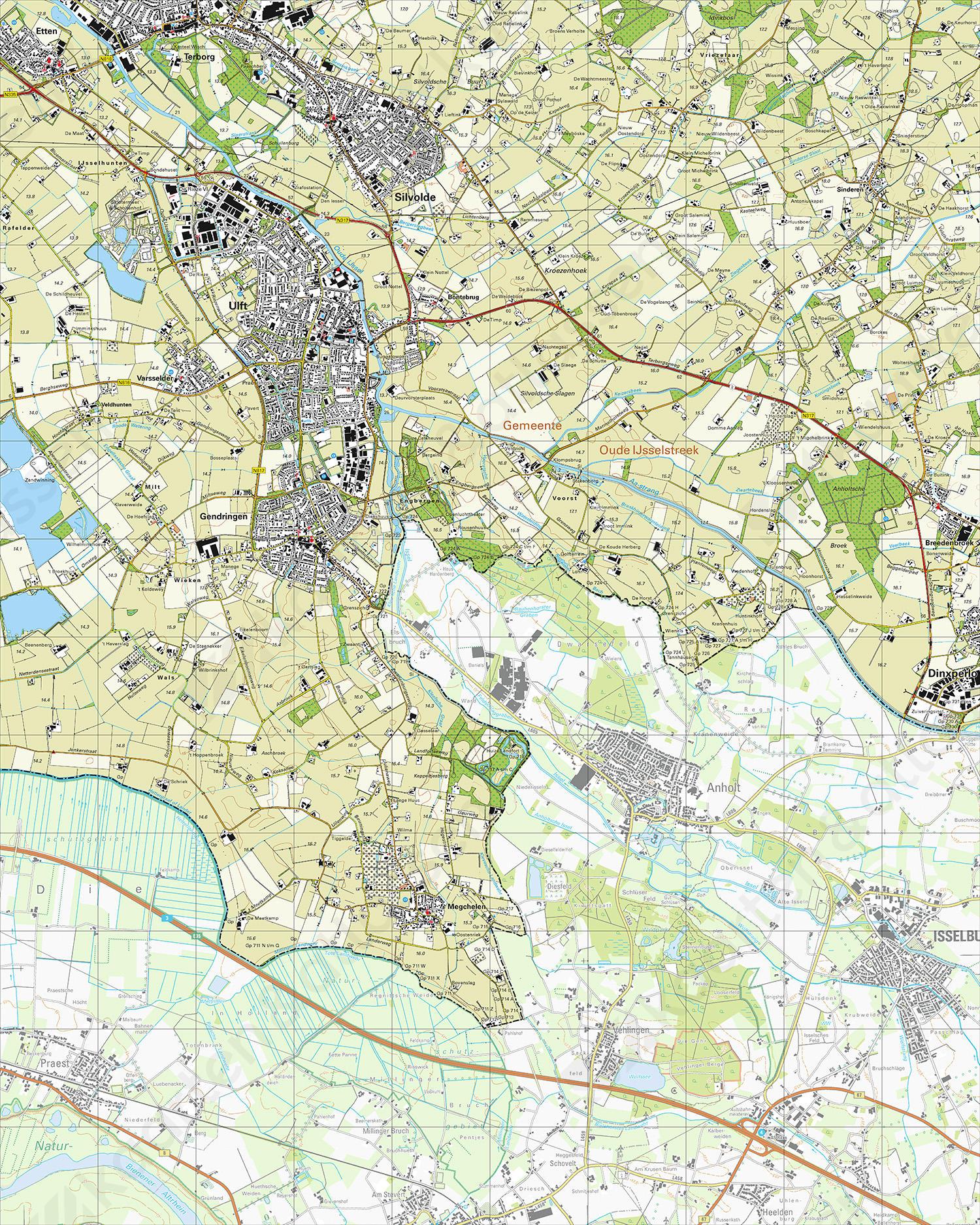 Topografische Kaart 41C Ulft