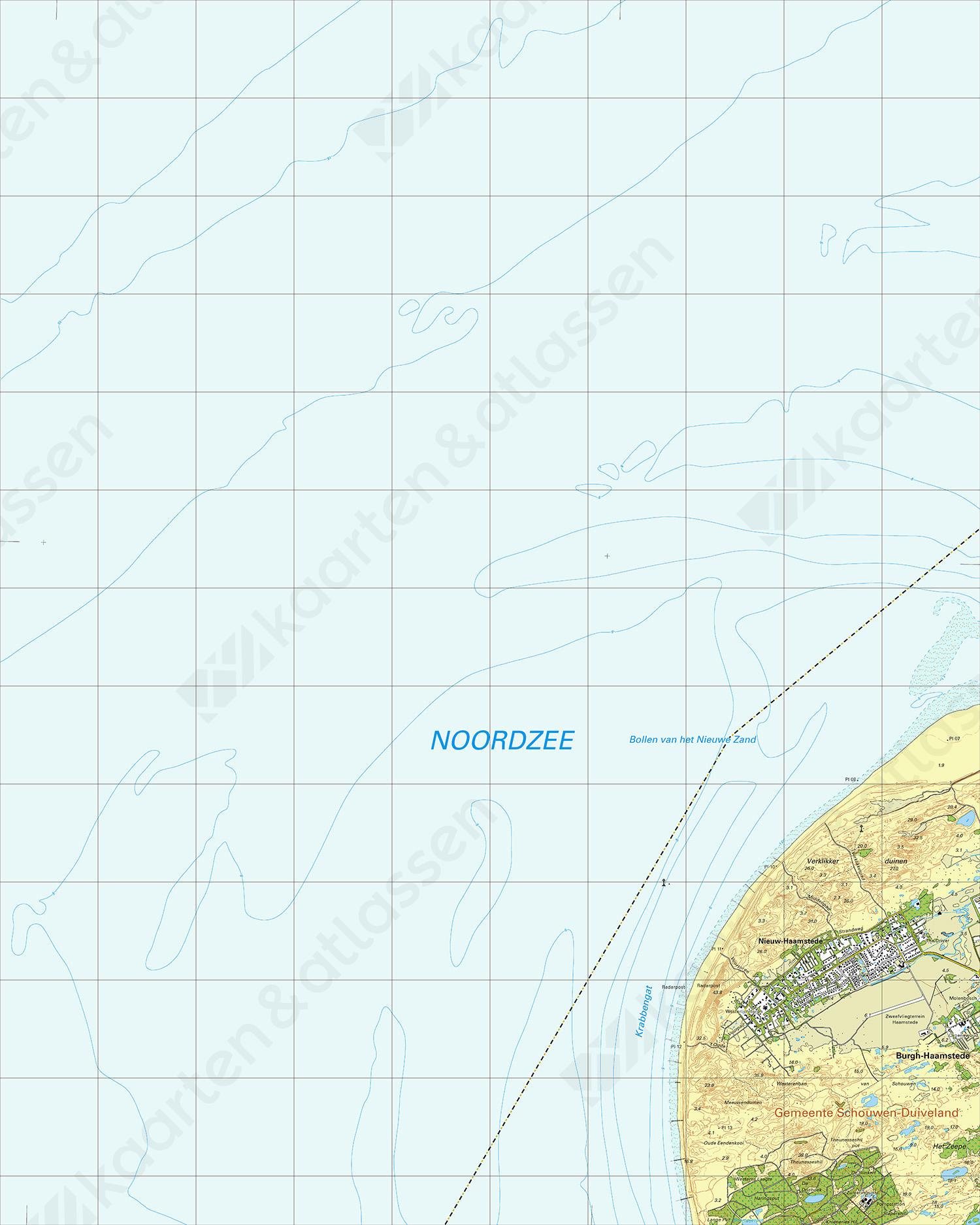 Topografische Kaart 42B Nieuw-Haamstede
