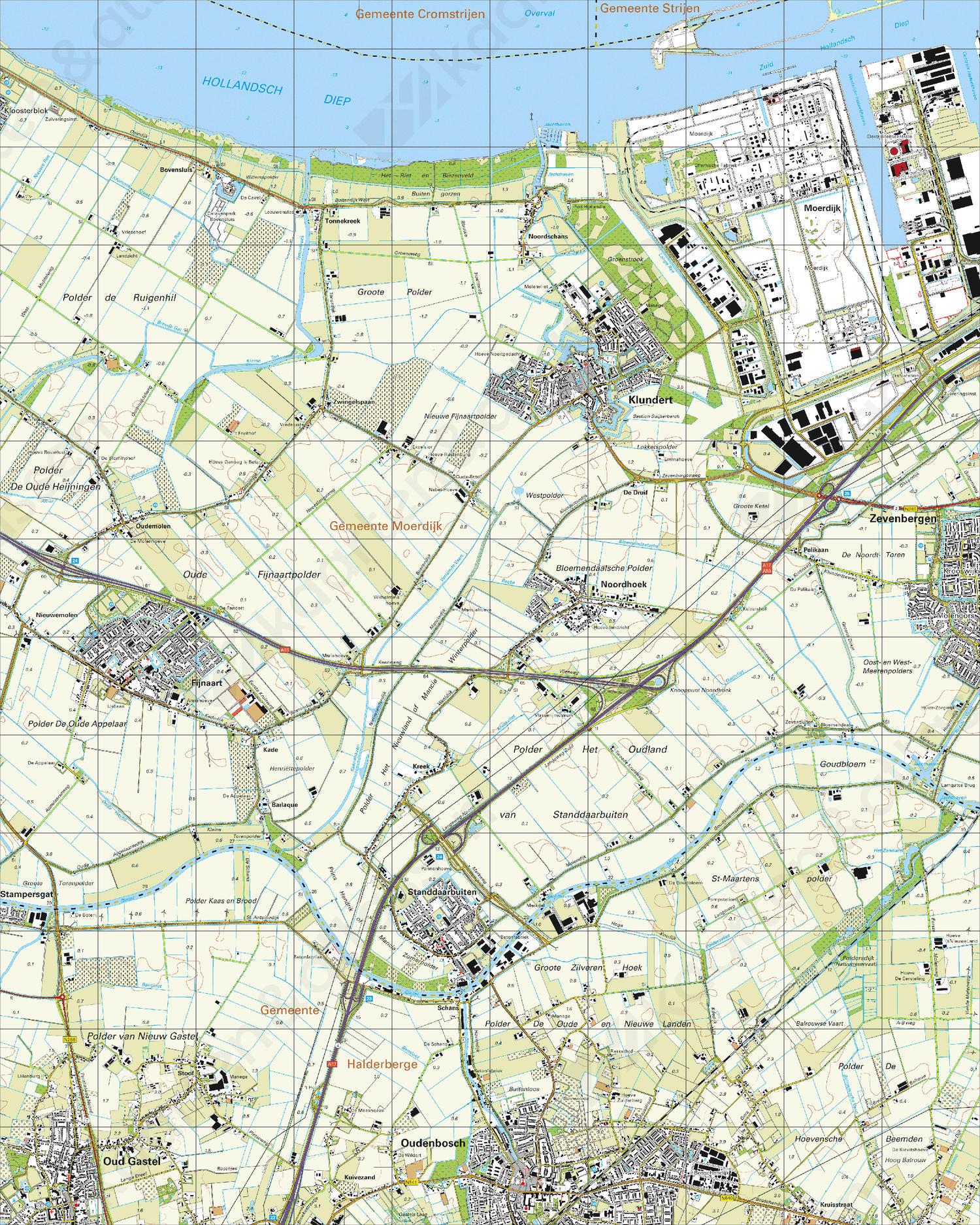 Topografische Kaart 43H Klundert
