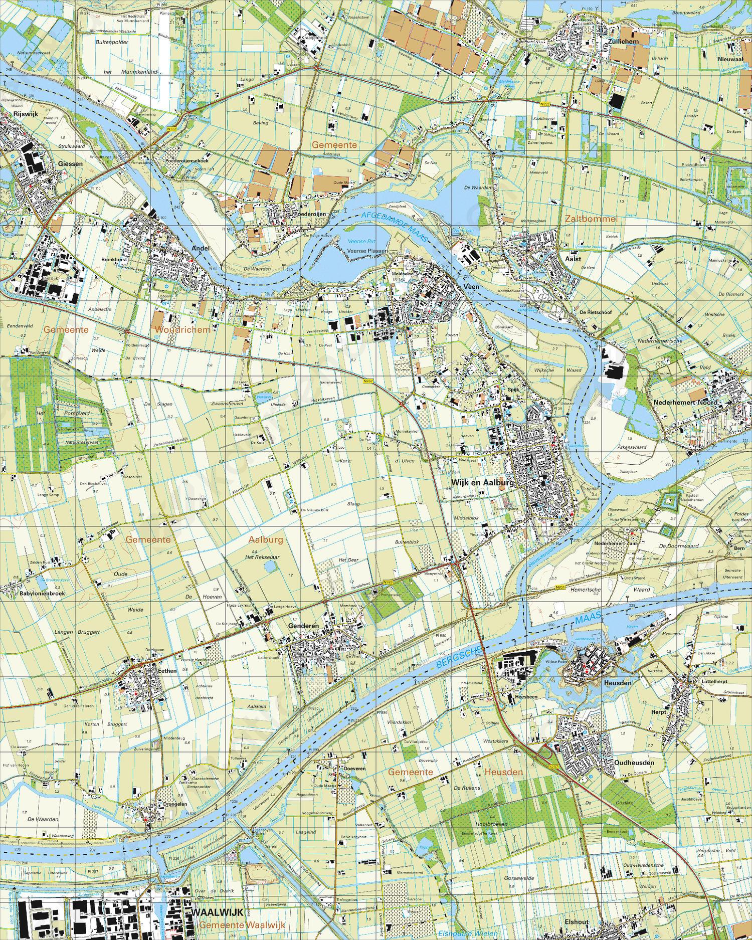 Topografische Kaart 44F Heusden