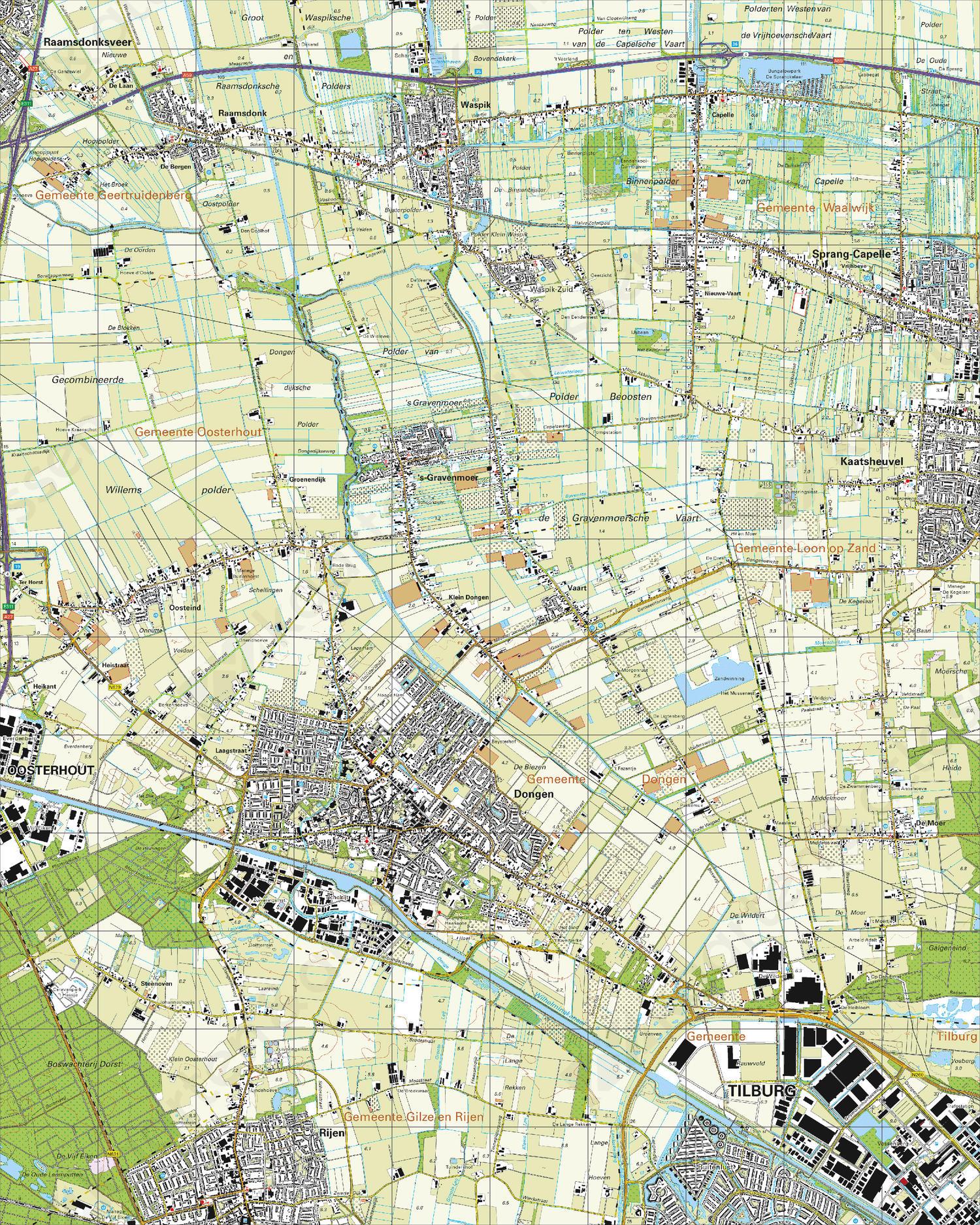 Topografische Kaart 44G Dongen
