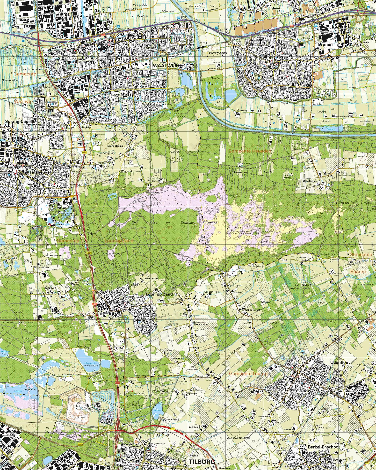 Topografische Kaart 44H Waalwijk