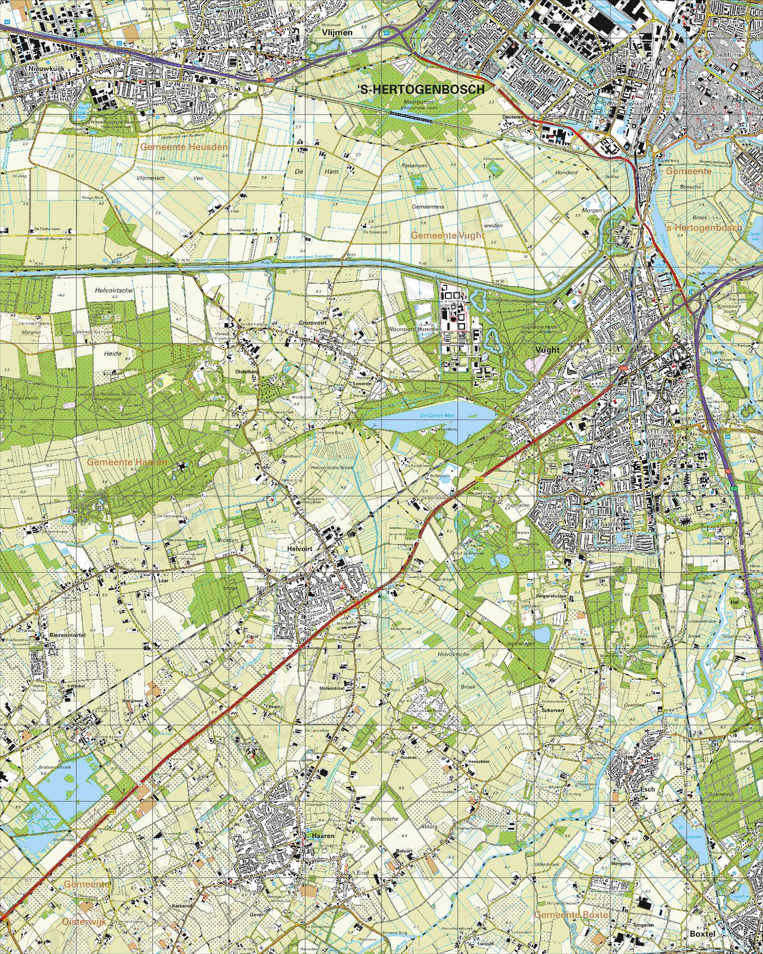 Topografische Kaart 45C 's-Hertogenbosch