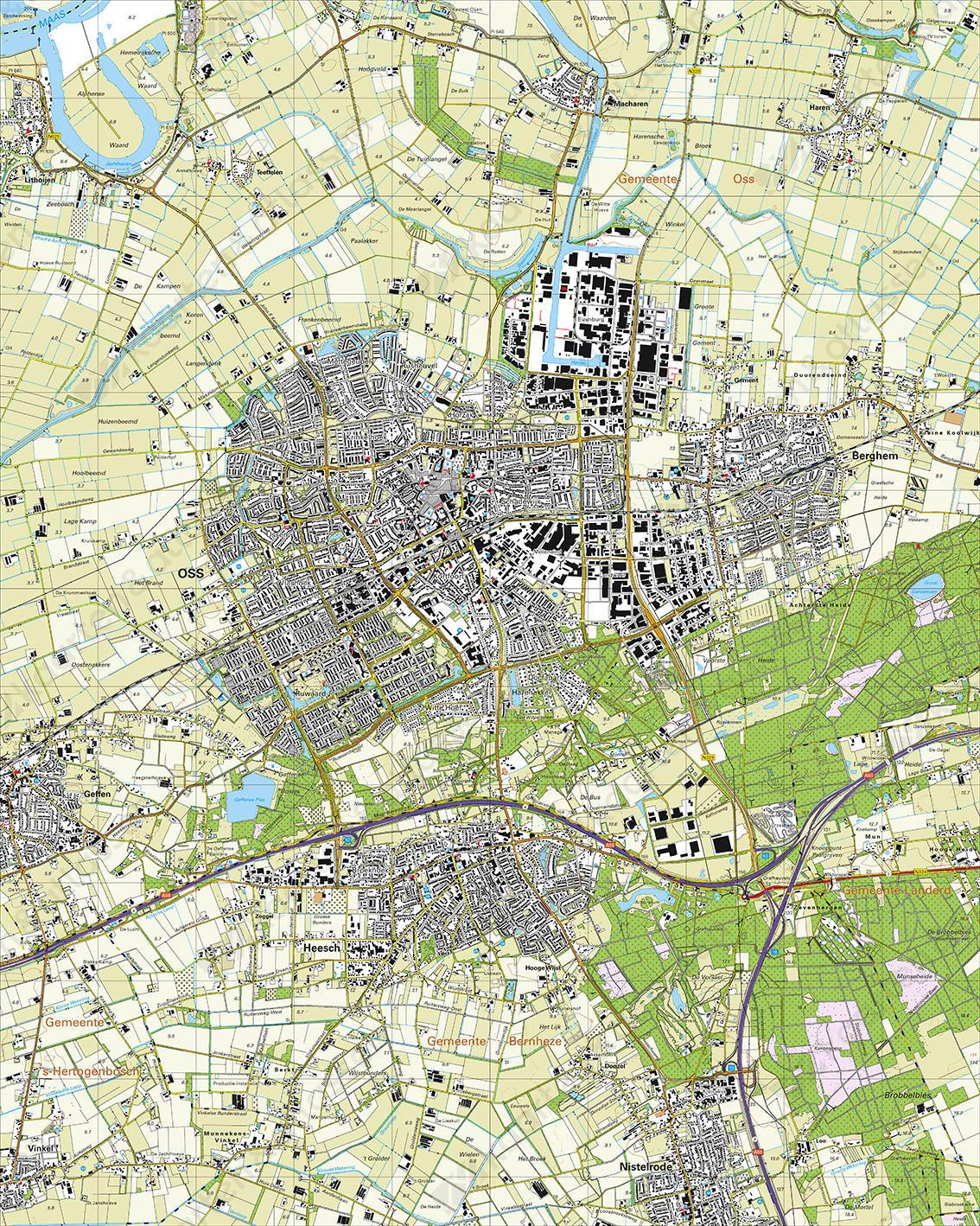 Topografische Kaart 45E Oss