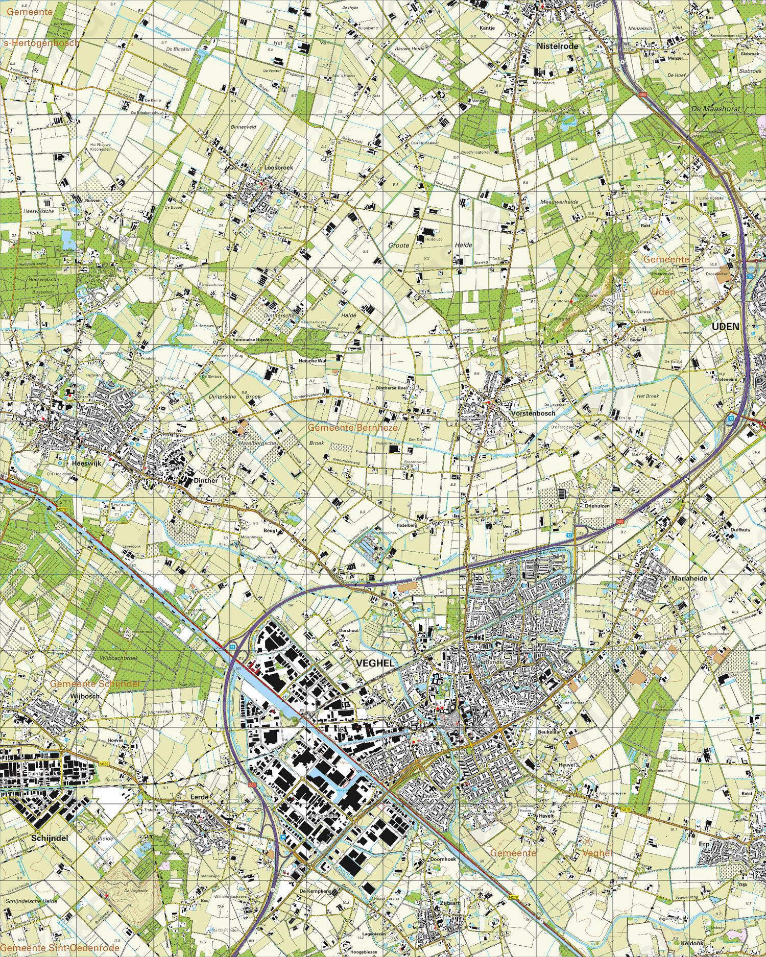 Topografische Kaart 45G Veghel