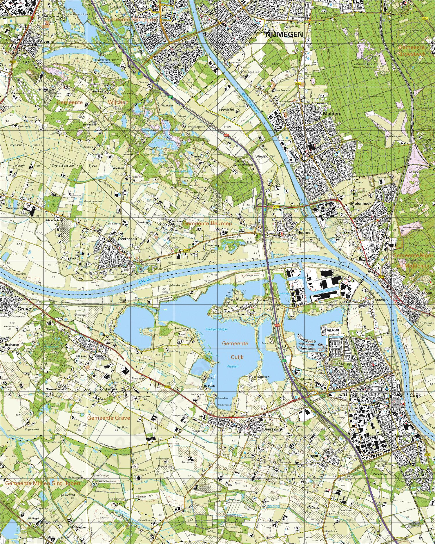 Topografische Kaart 46A Cuijk