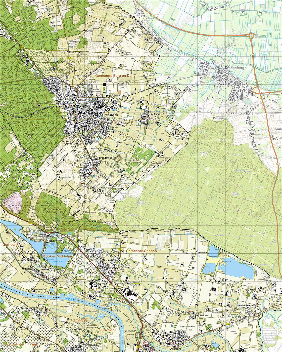 Topografische Kaart 46B Groesbeek