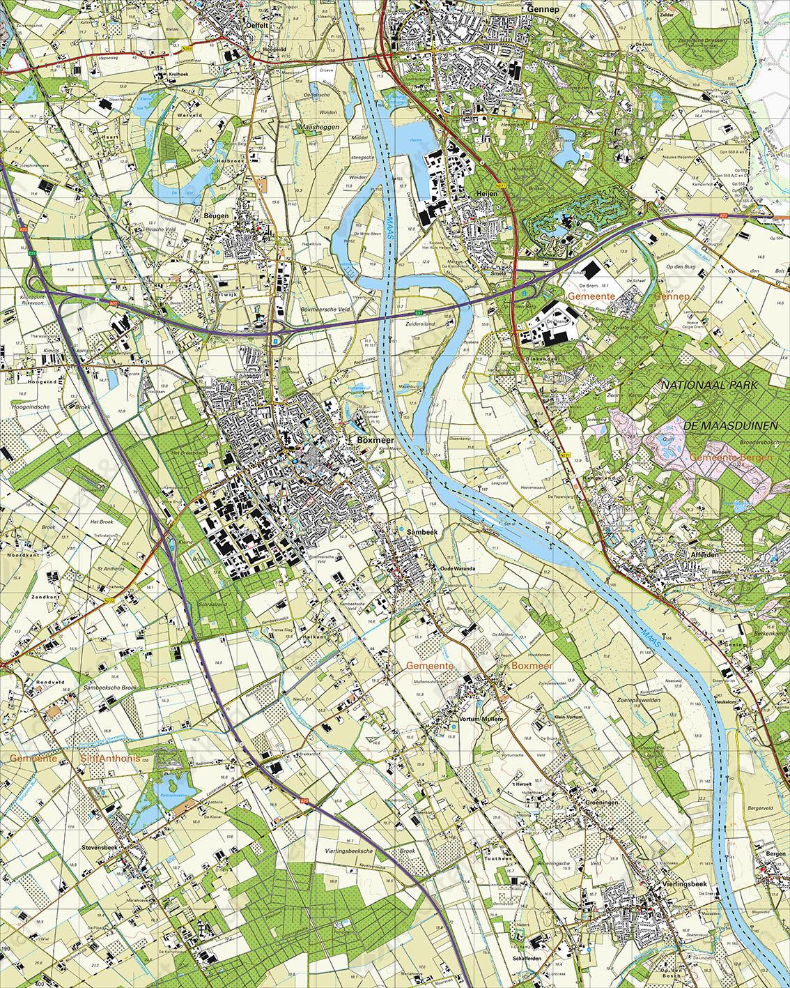 Topografische Kaart 46D Boxmeer