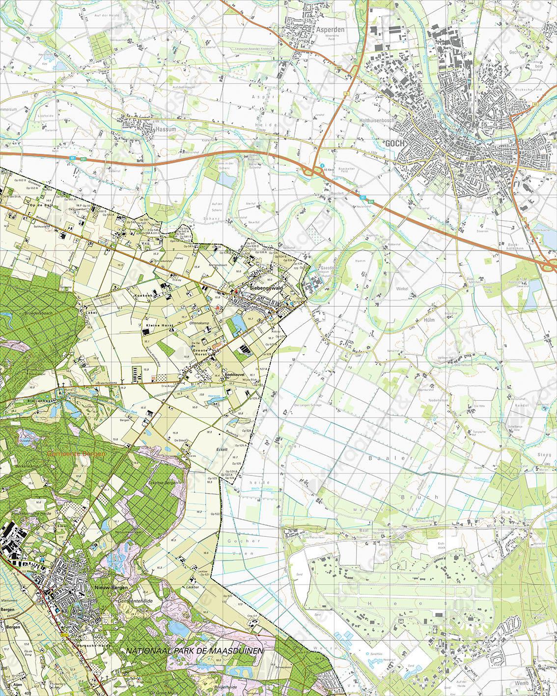 Topografische Kaart 46G Nieuw-Bergen