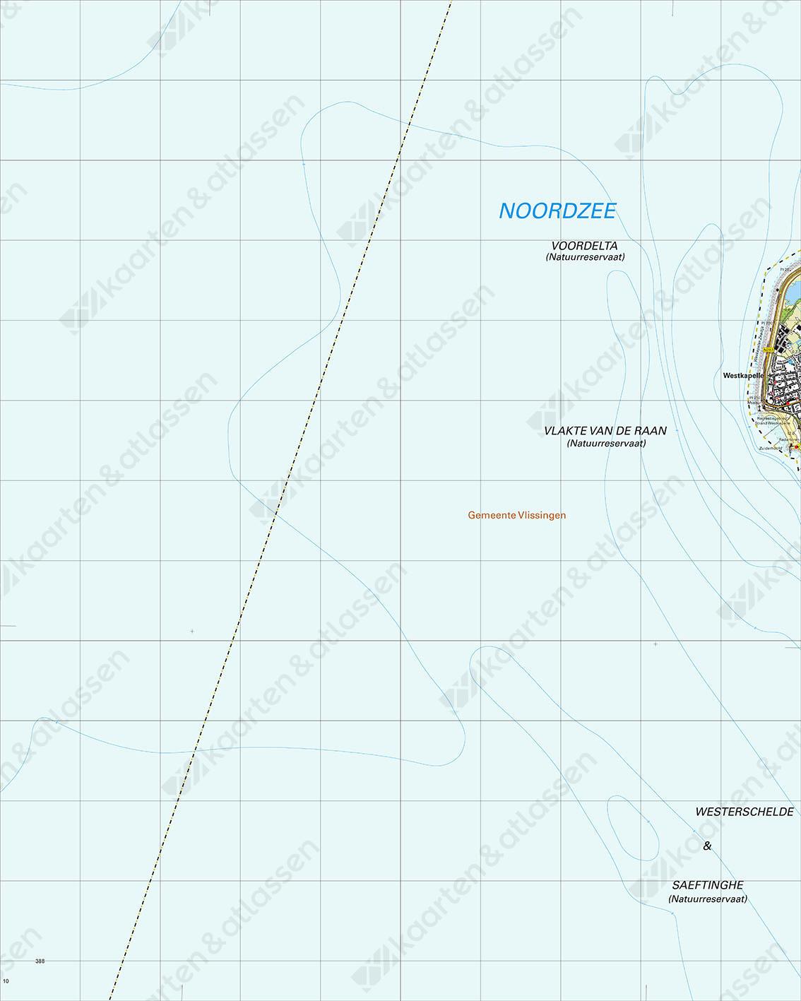 Topografische Kaart 47F Westkapelle
