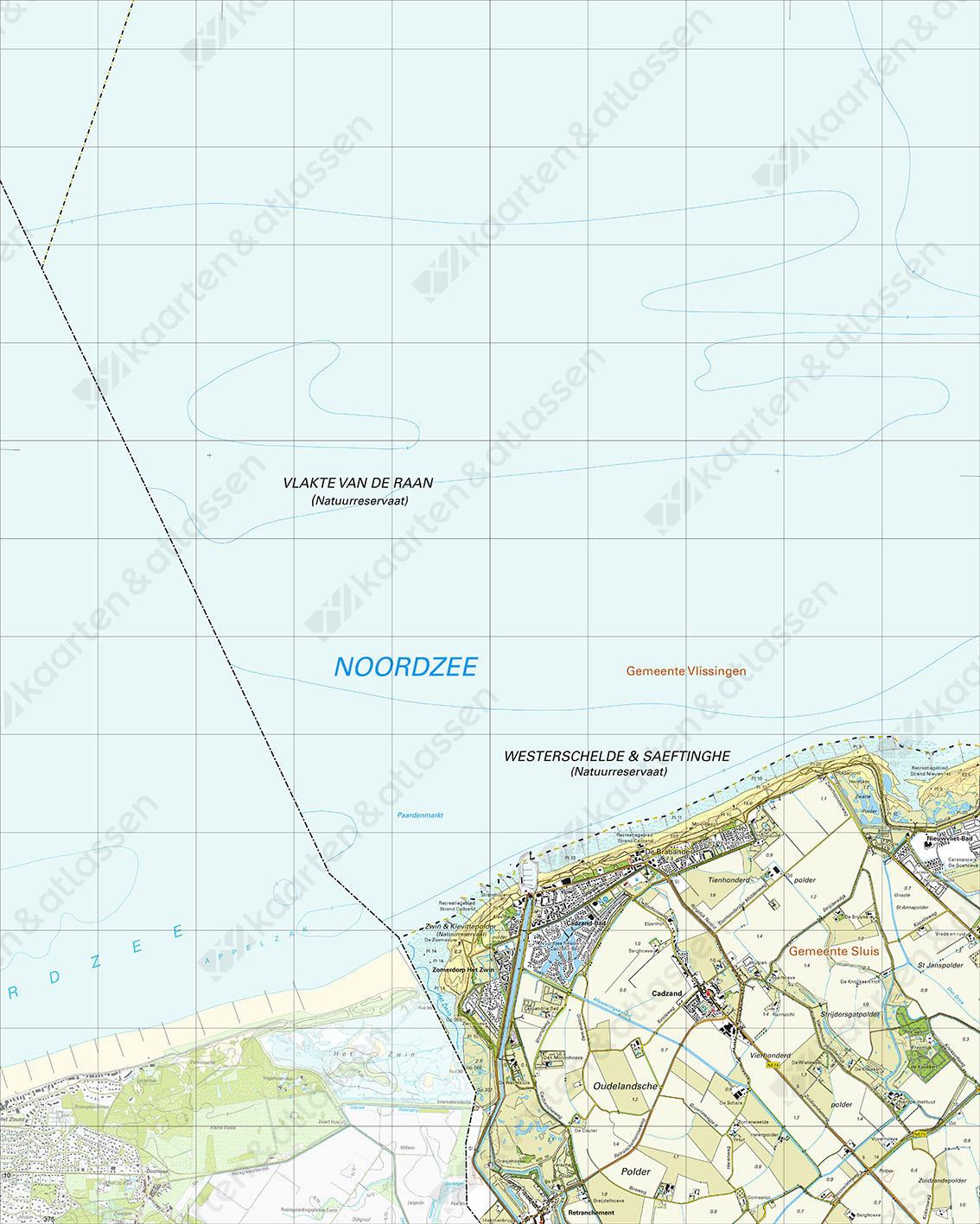 Topografische Kaart 47H Cadzand