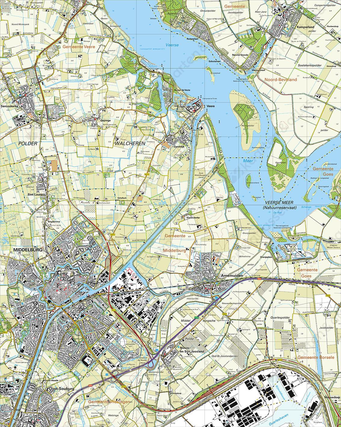 Topografische Kaart 48B Middelburg