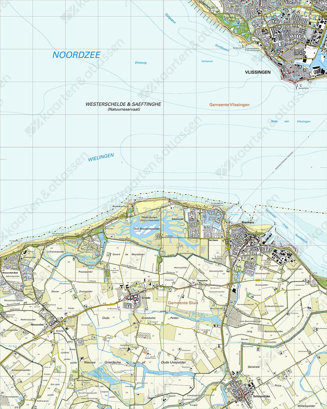 Topografische Kaart 48C Breskens