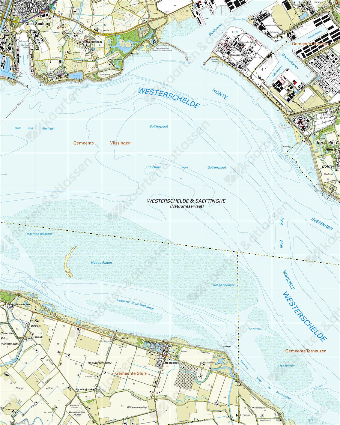 Topografische Kaart 48D Hoofdplaat