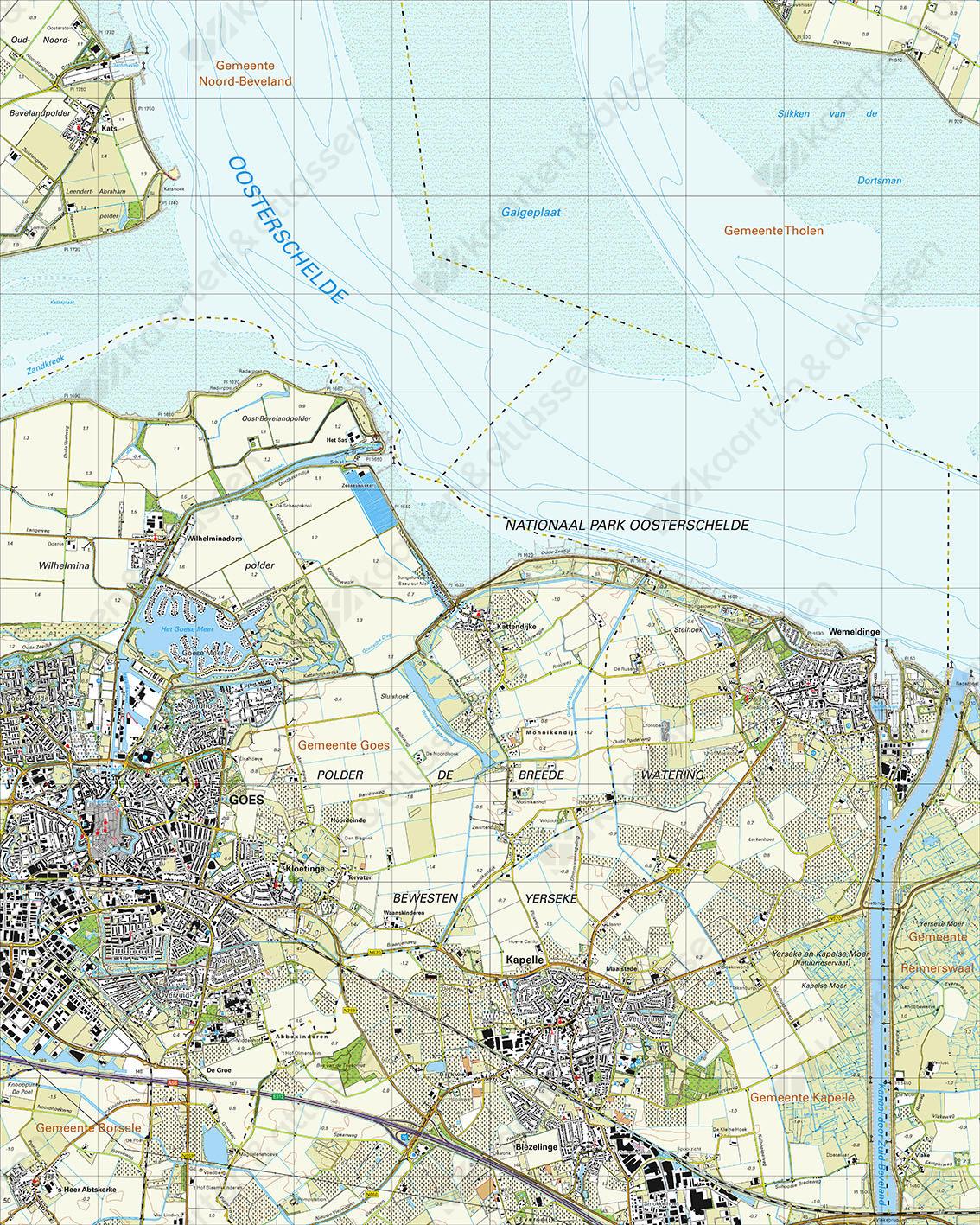 Topografische Kaart 48F Goes